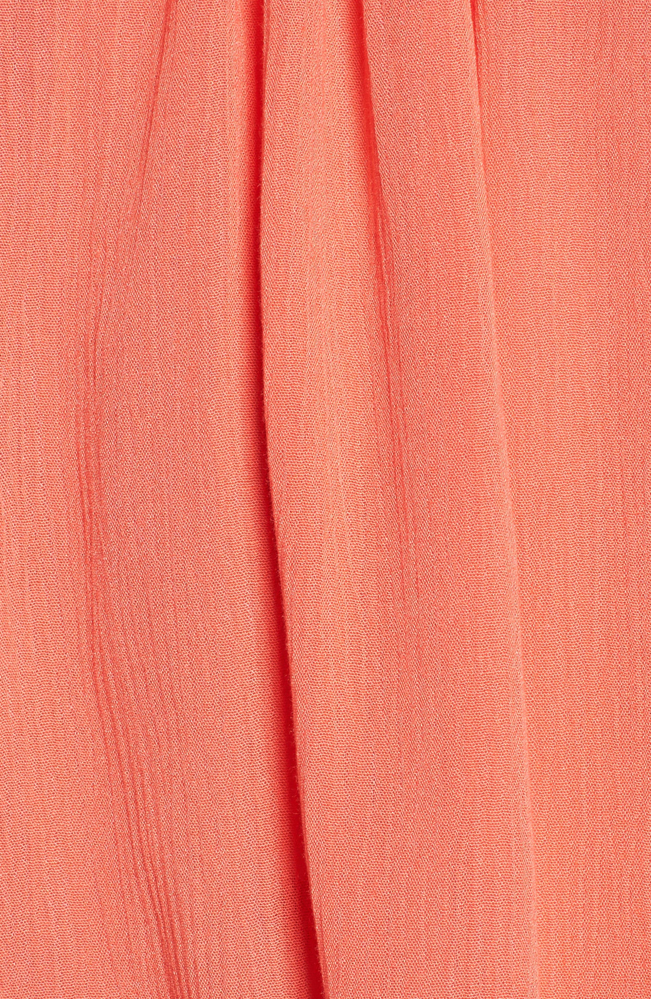 Bettie Cold Shoulder Blouse,                             Alternate thumbnail 6, color,                             Hot Coral