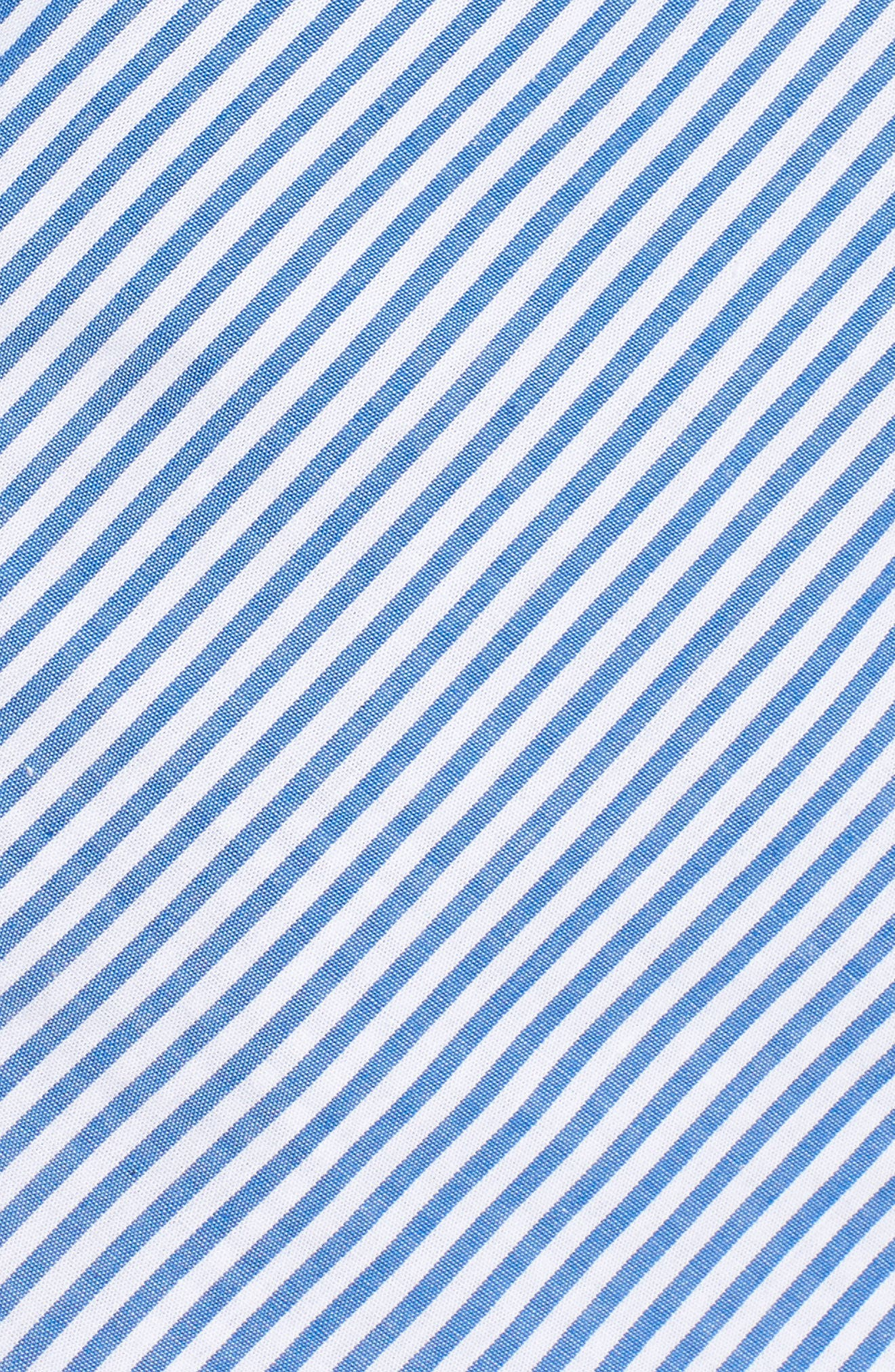 Stripe Wrap Top,                             Alternate thumbnail 6, color,                             Blue/ White