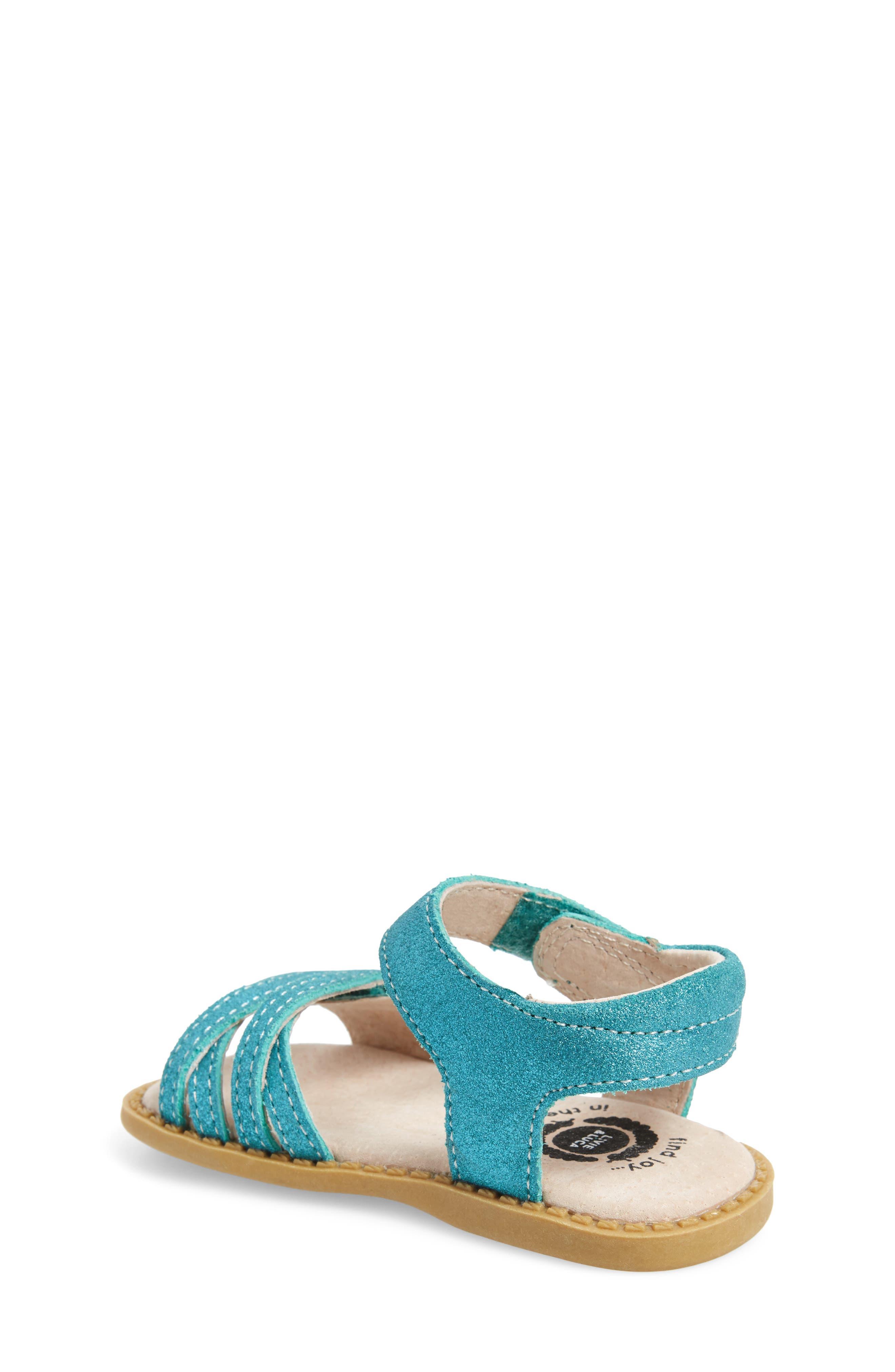 'Athena' Sandal,                             Alternate thumbnail 2, color,                             Aqua Shimmer
