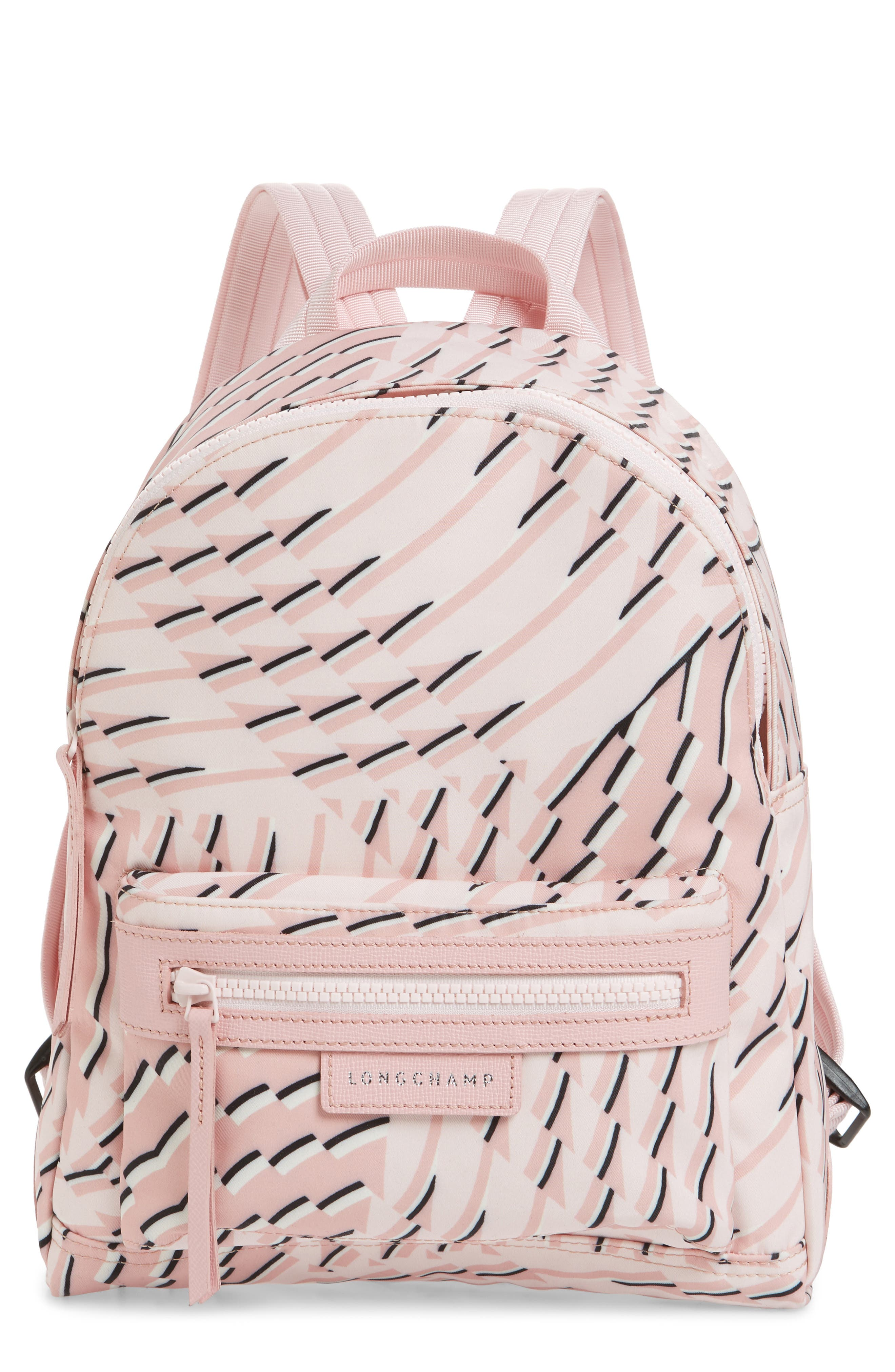 Longchamp Small Le Pliage Neo Print Backpack Pink In Petal Modesens