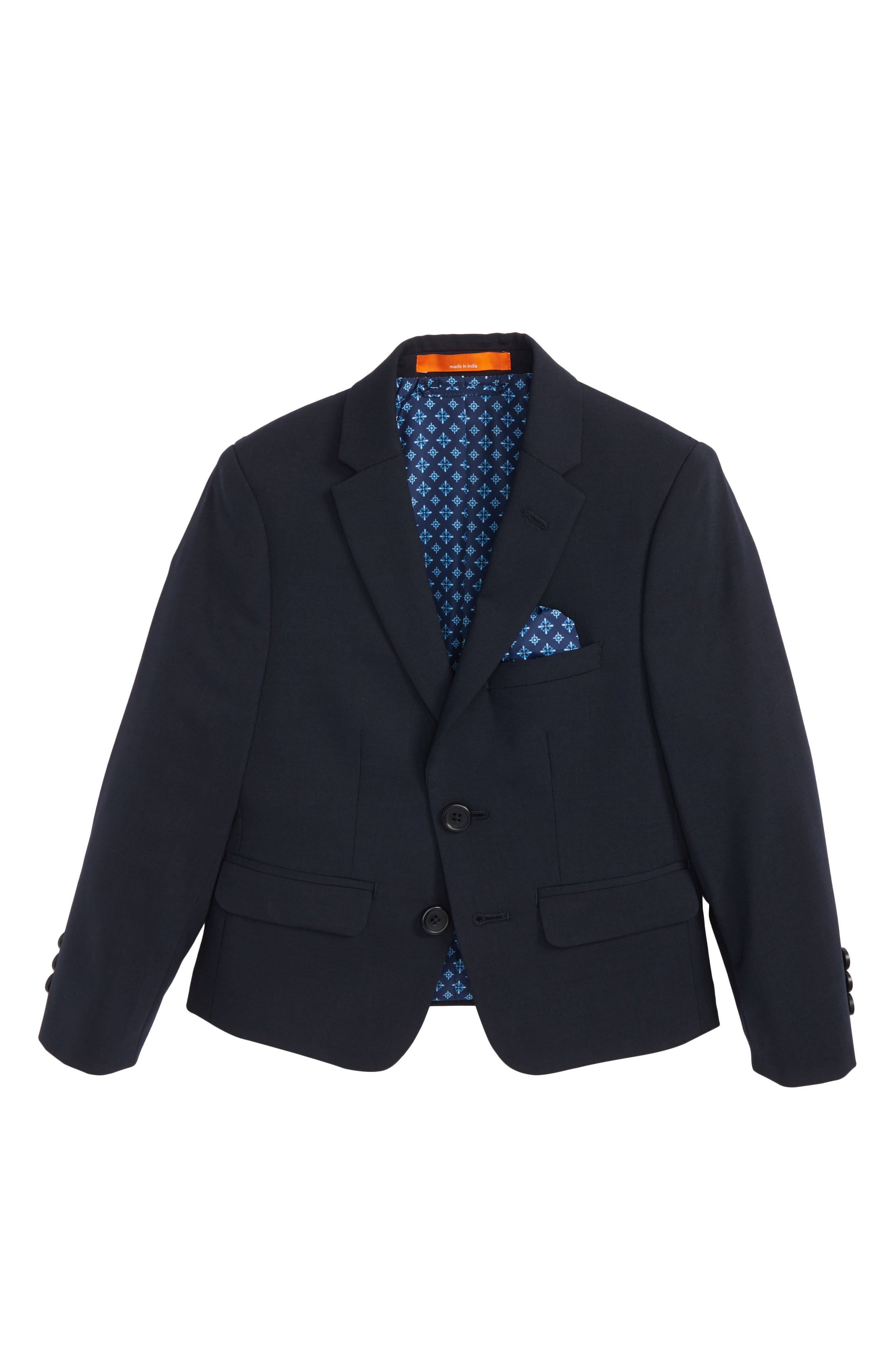 Solid Wool Blend Sport Coat,                             Main thumbnail 1, color,                             Navy