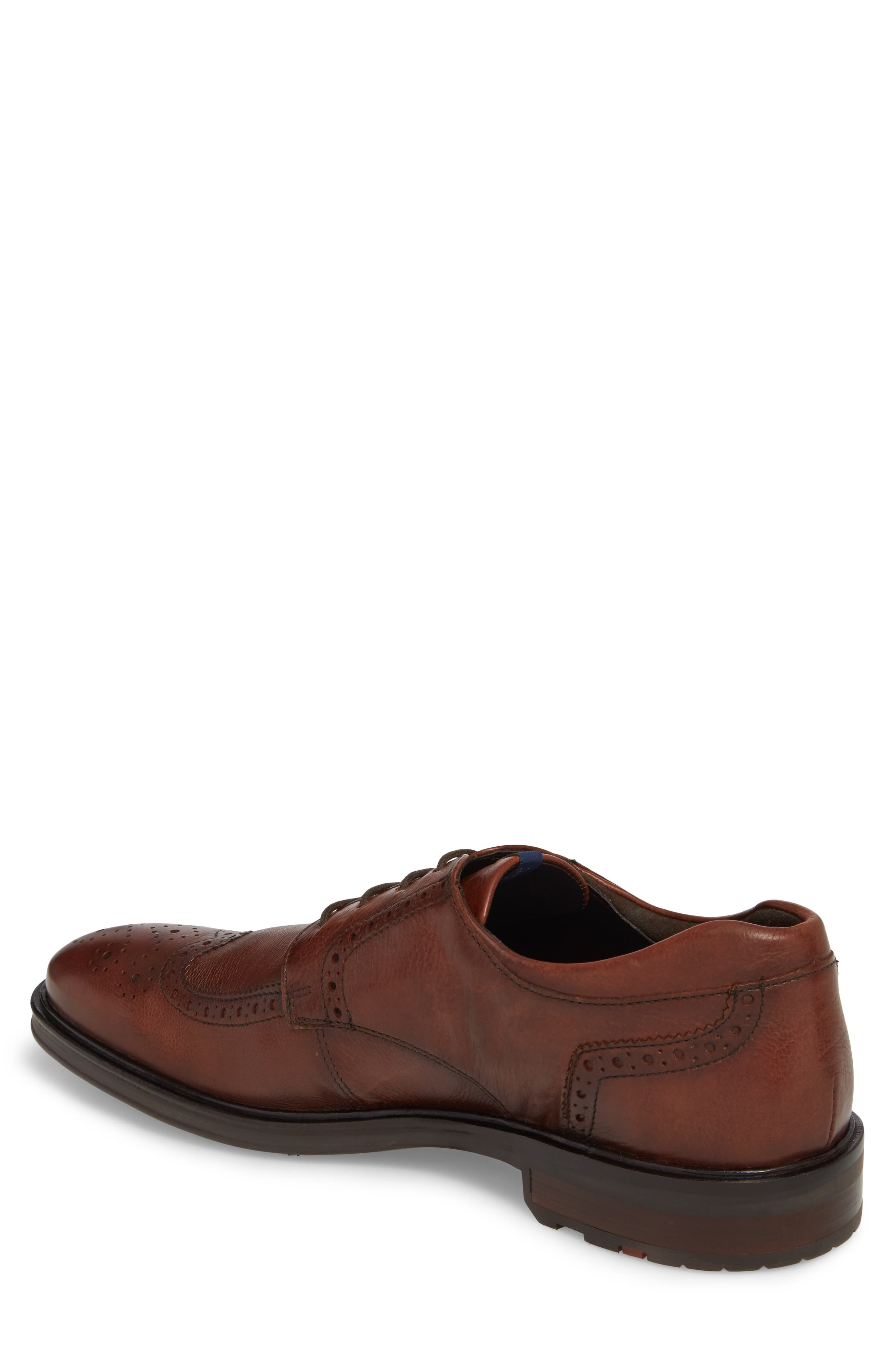 Marian Wingtip,                             Alternate thumbnail 2, color,                             Cafe Leather
