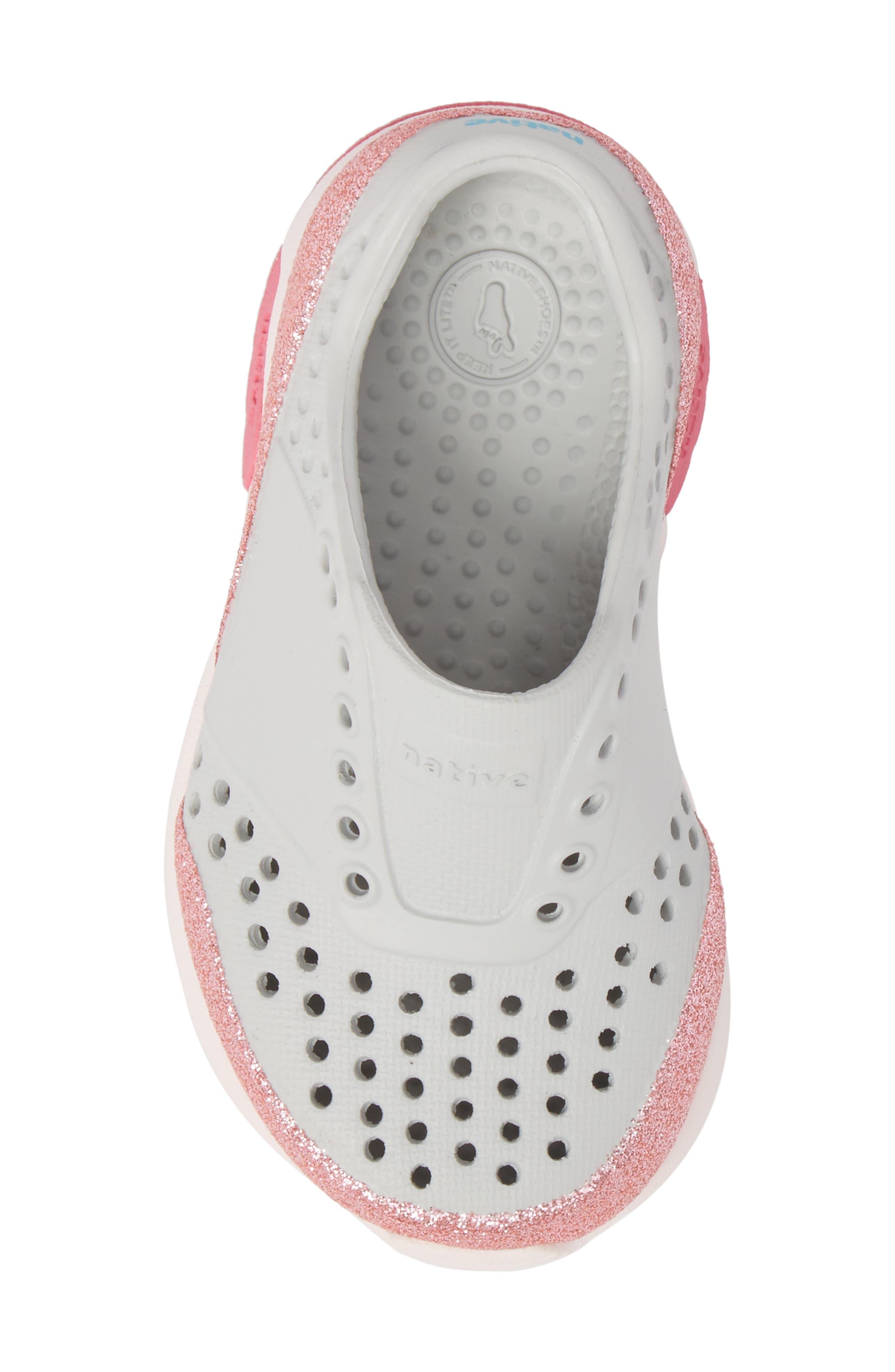 Lennox Glitter Slip-On Sneaker,                             Alternate thumbnail 5, color,                             Mist Grey/ Milk Pink/ Glitter