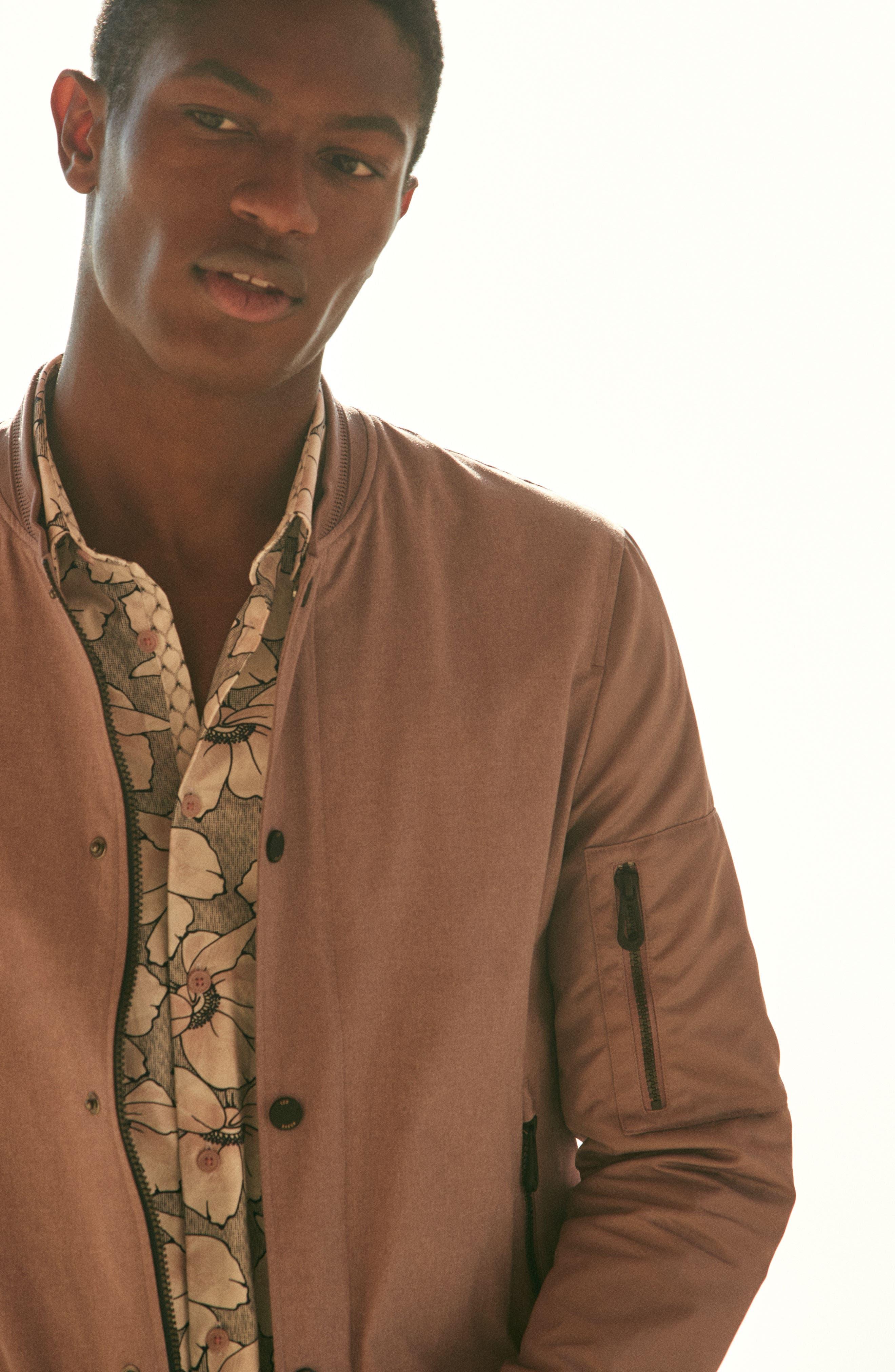 Alternate Image 9  - Ted Baker London Bigflo Floral Short Sleeve Sport Shirt