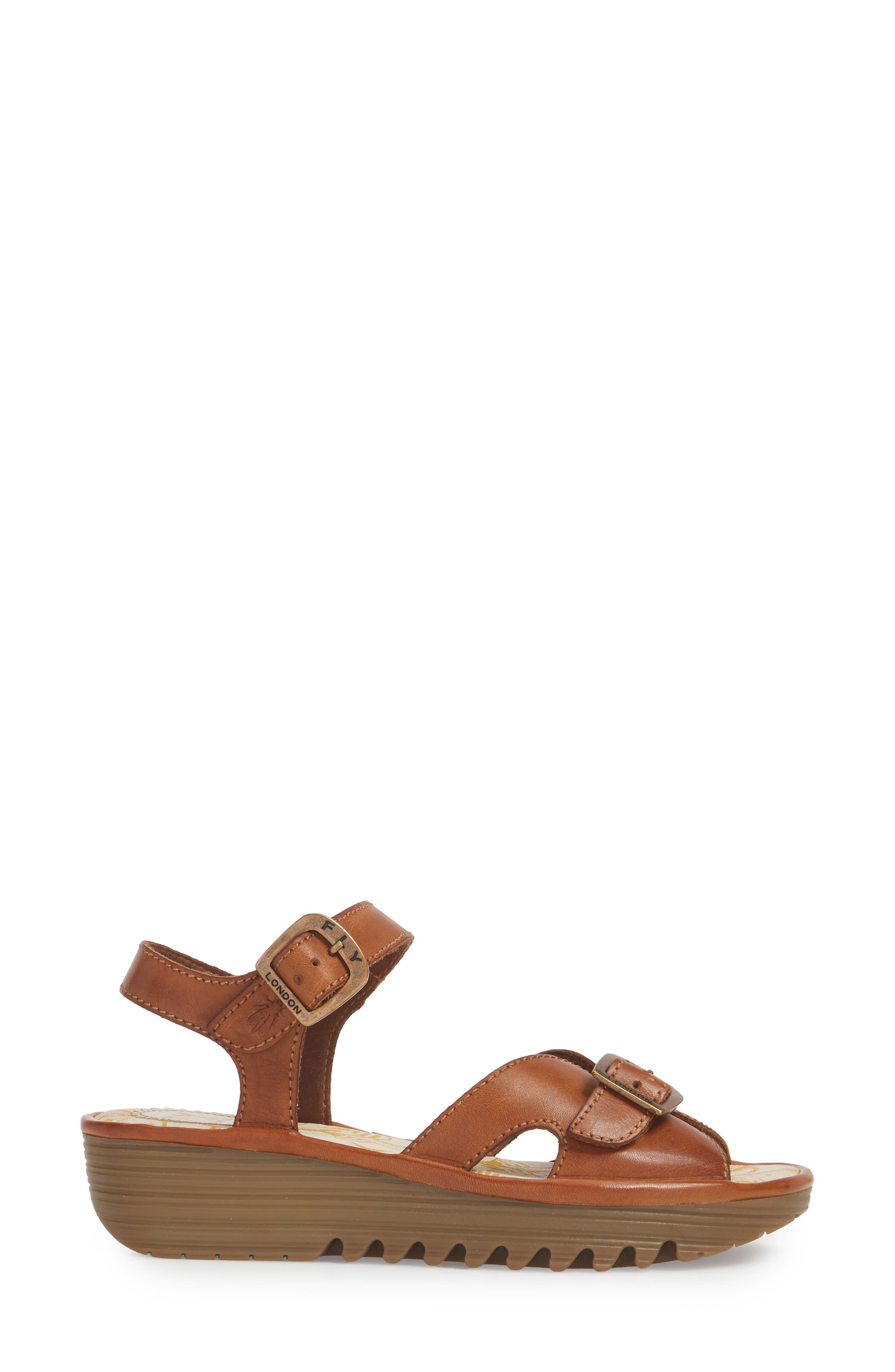 Egal Sandal,                             Alternate thumbnail 3, color,                             Tan Colmar Leather