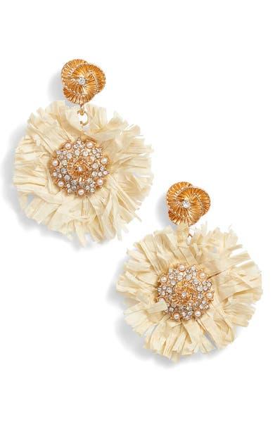 Main Image - Kitsch Pinwheel Straw Earrings
