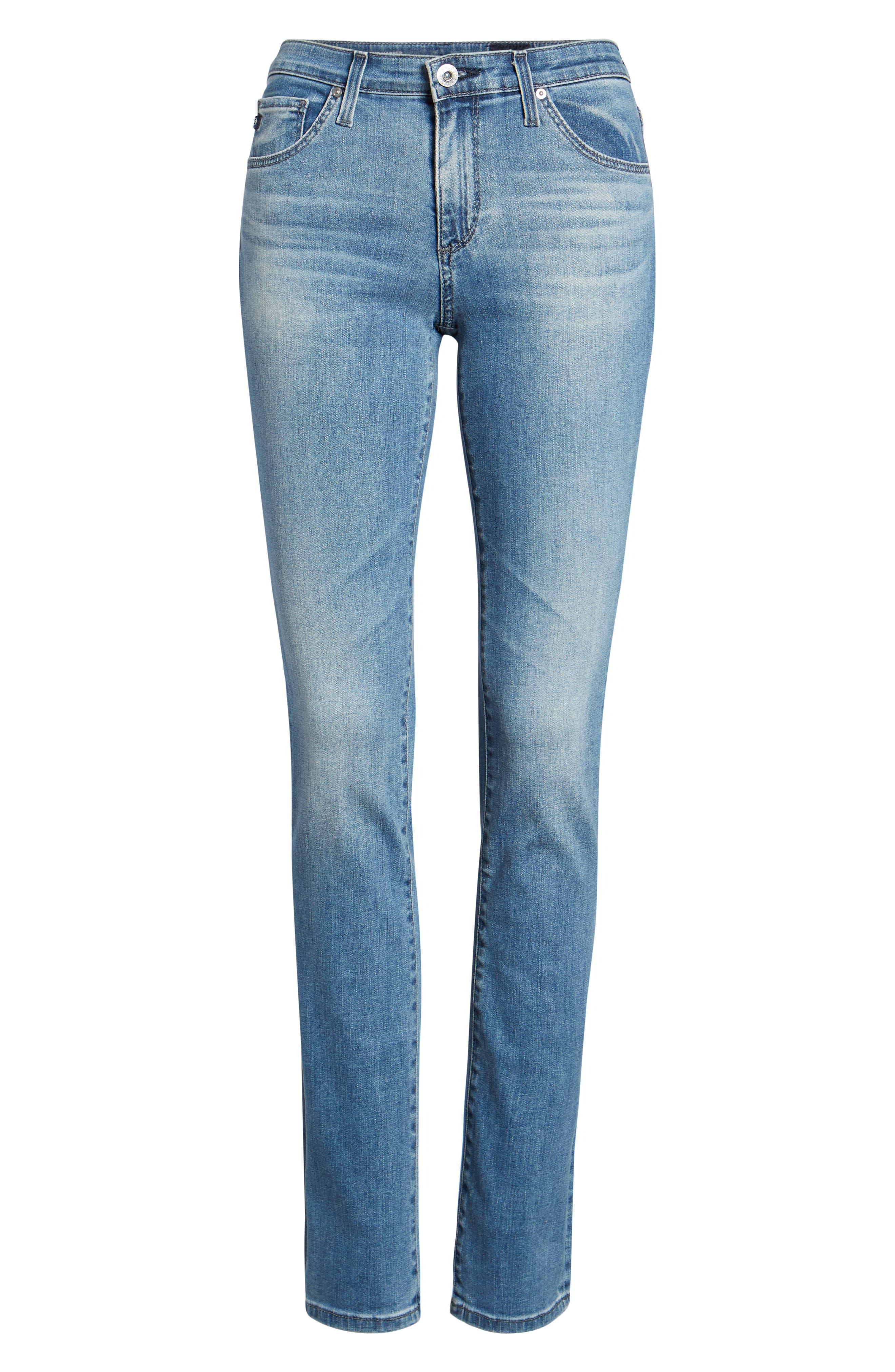 Harper Slim Straight Leg Jeans,                             Alternate thumbnail 7, color,                             Sea Sprite