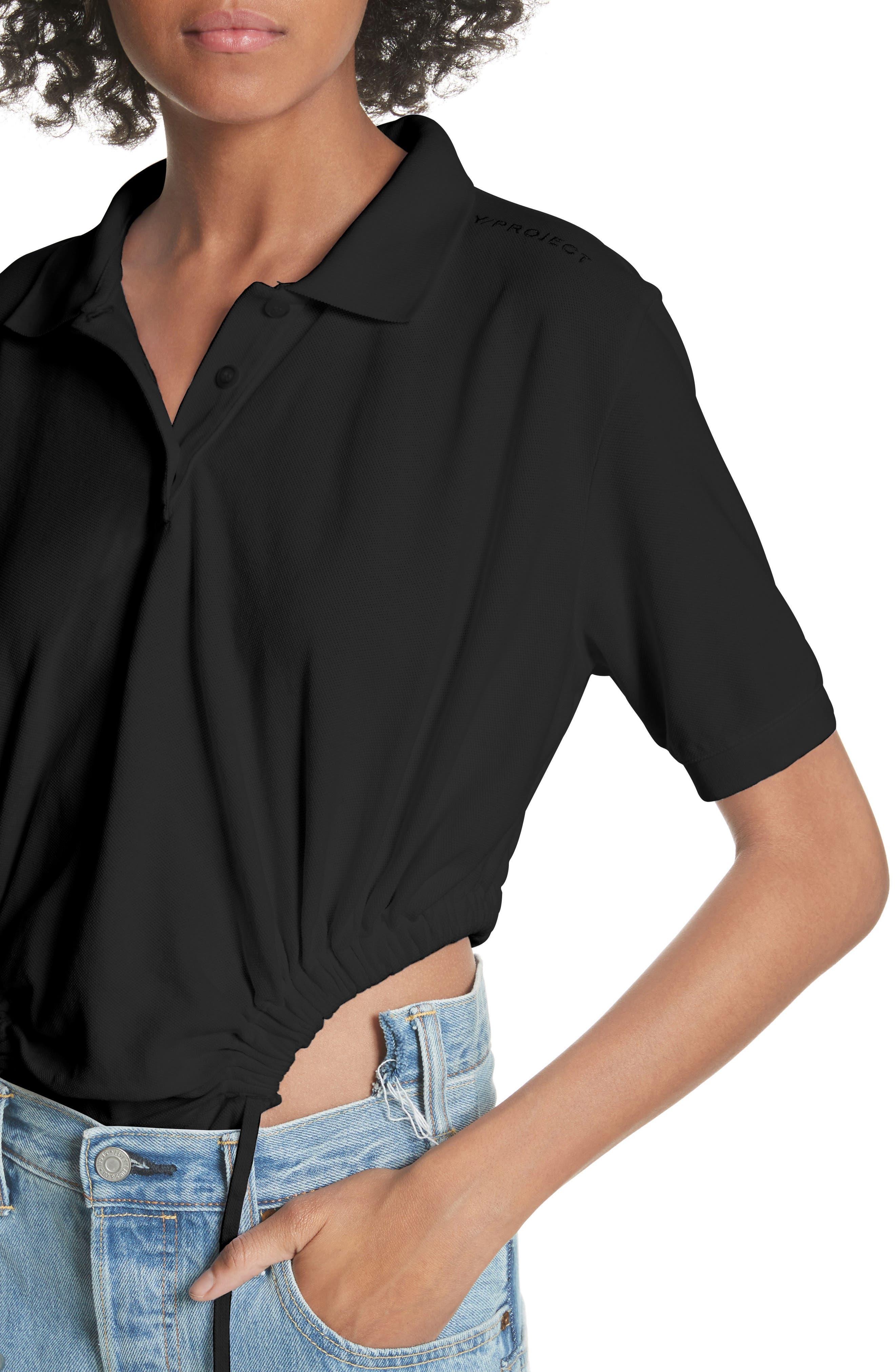 Polo Bodysuit,                             Alternate thumbnail 4, color,                             Noir