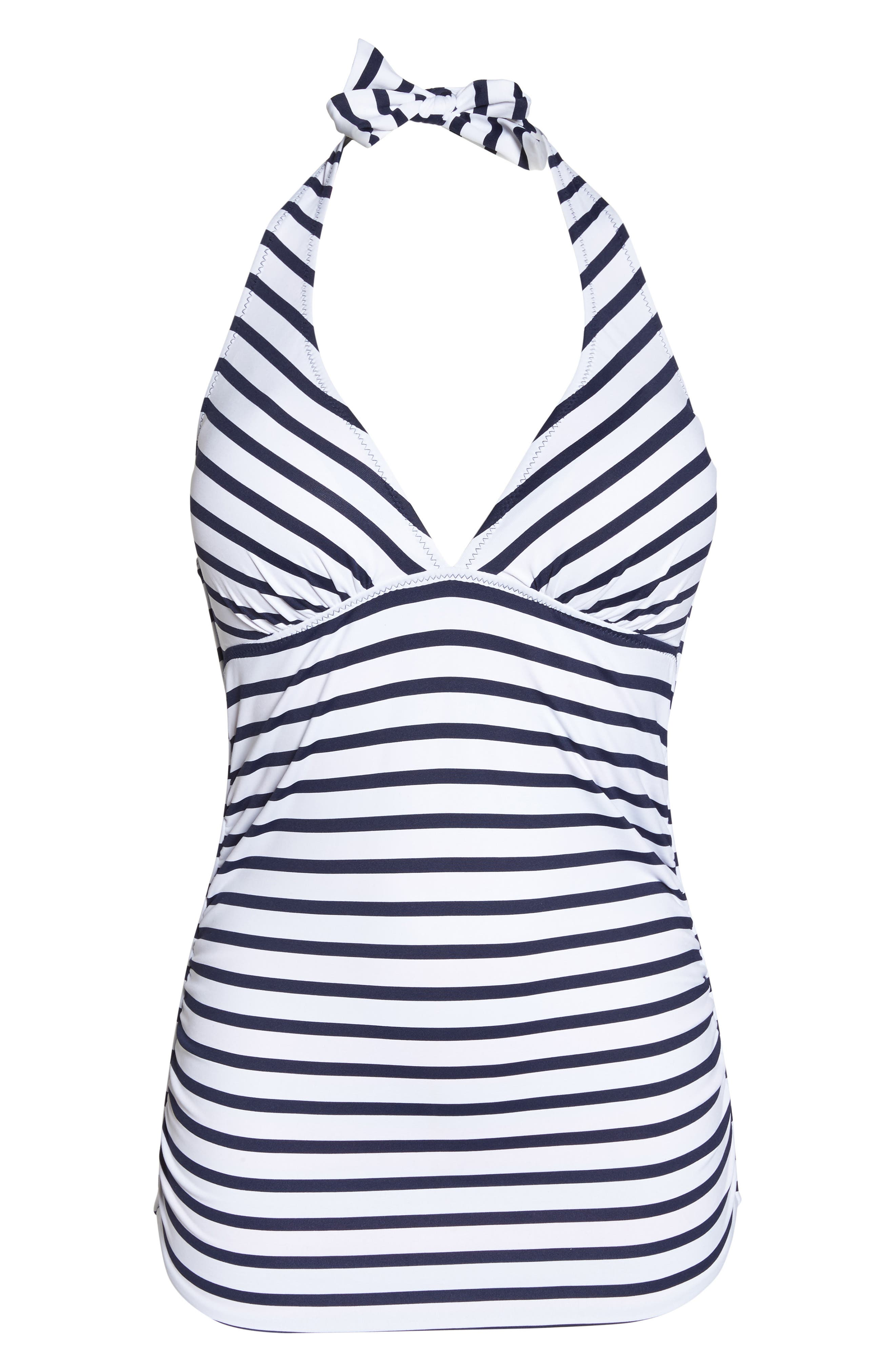 Channel Surfing Reversible Halter Tankini Top,                             Alternate thumbnail 8, color,                             Mare Blue