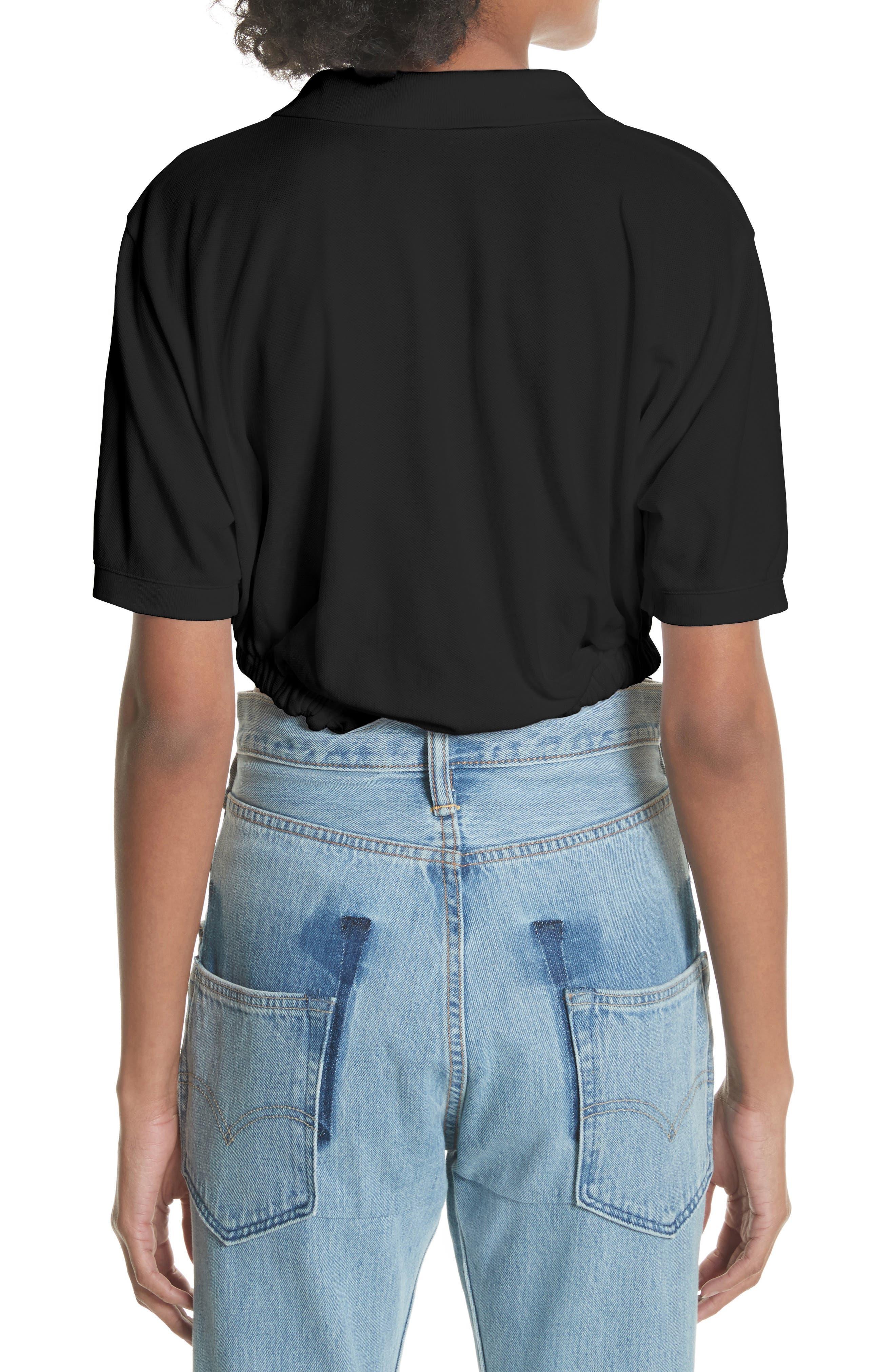 Polo Bodysuit,                             Alternate thumbnail 2, color,                             Noir