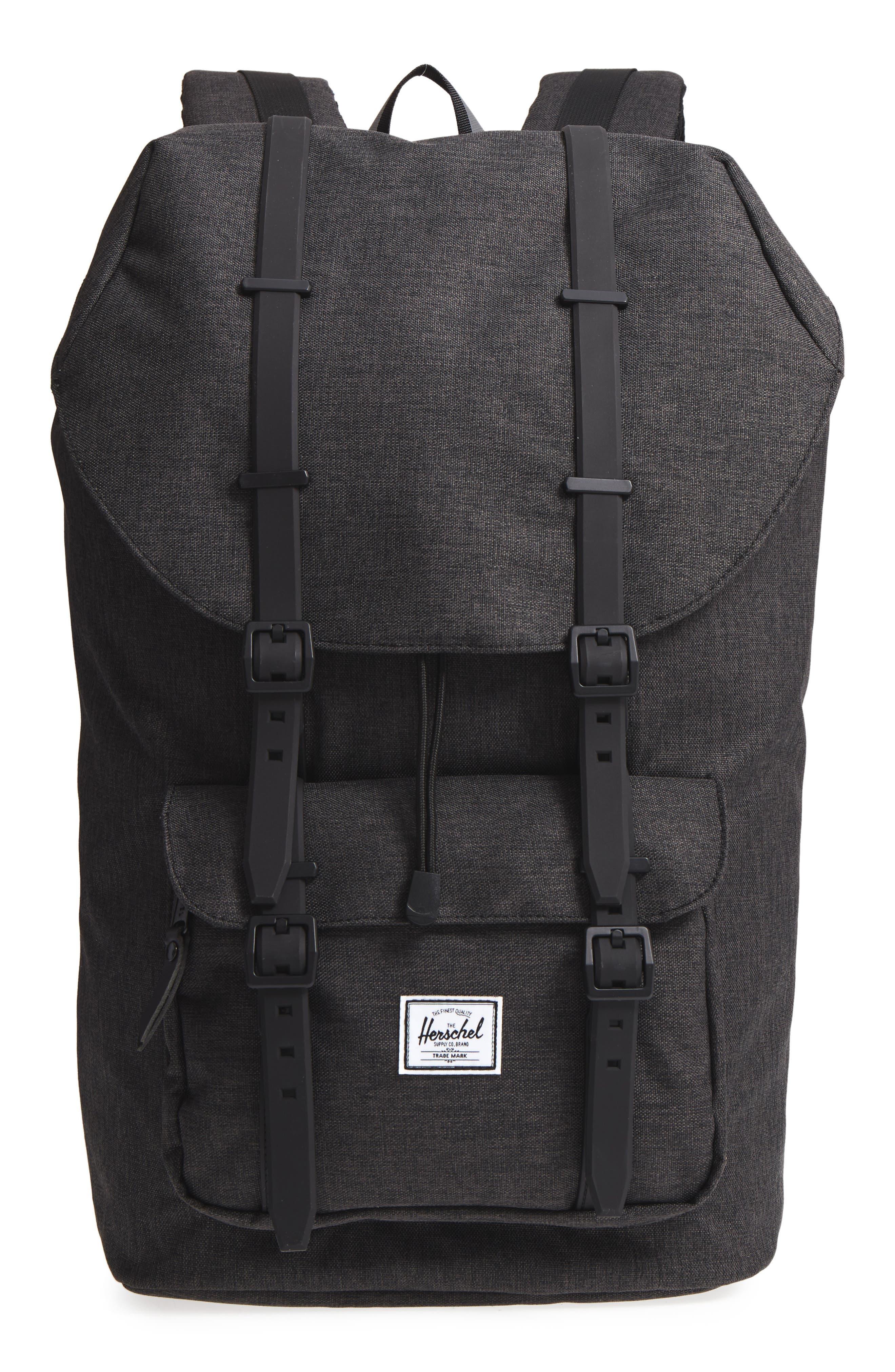 Little America - Reflective Backpack,                             Main thumbnail 1, color,                             Black Crosshatch/ Reflective