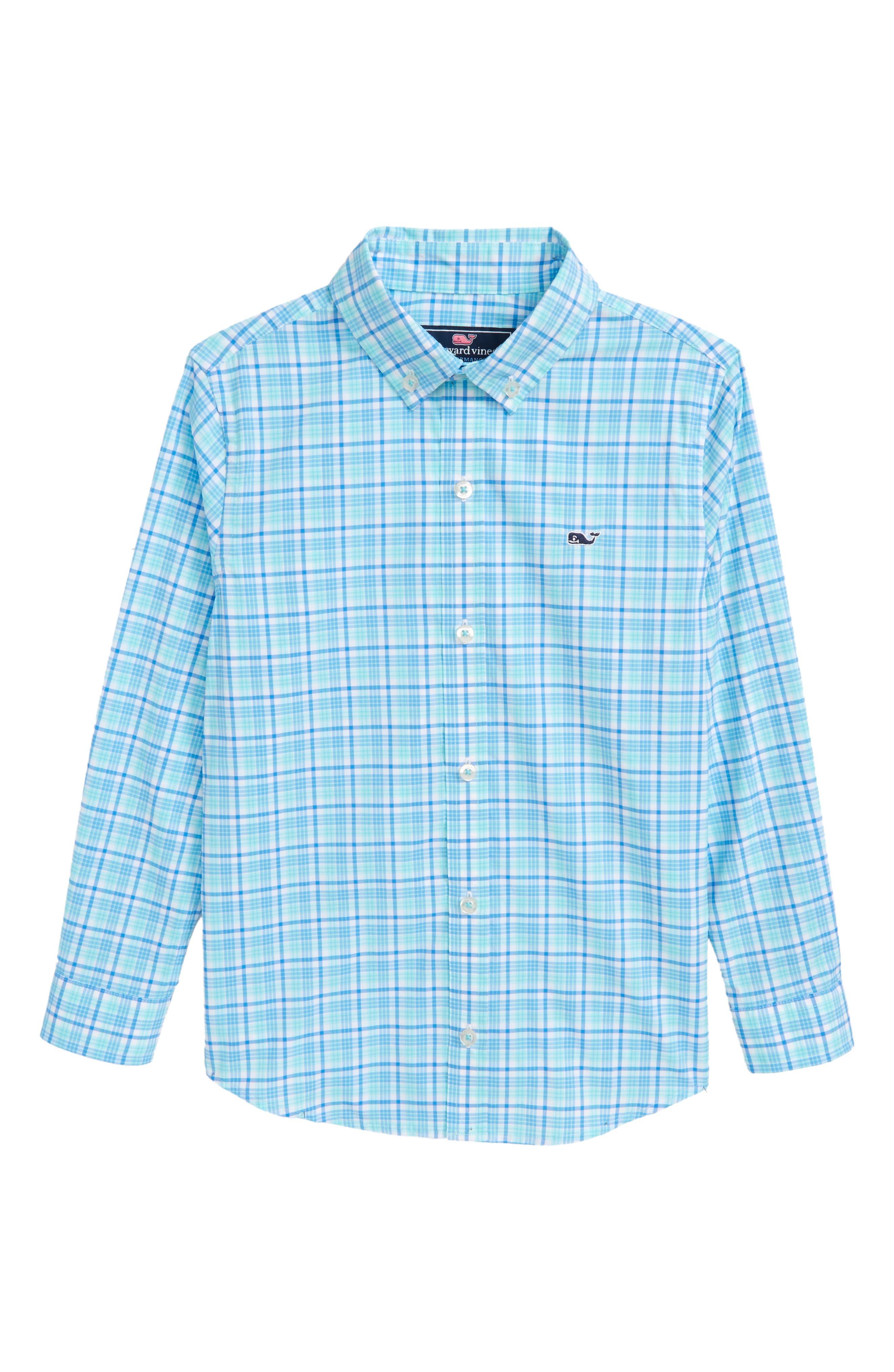 vineyard vines Marsh Harbor Plaid Woven Shirt (Toddler Boys, Little Boys & Big Boys)
