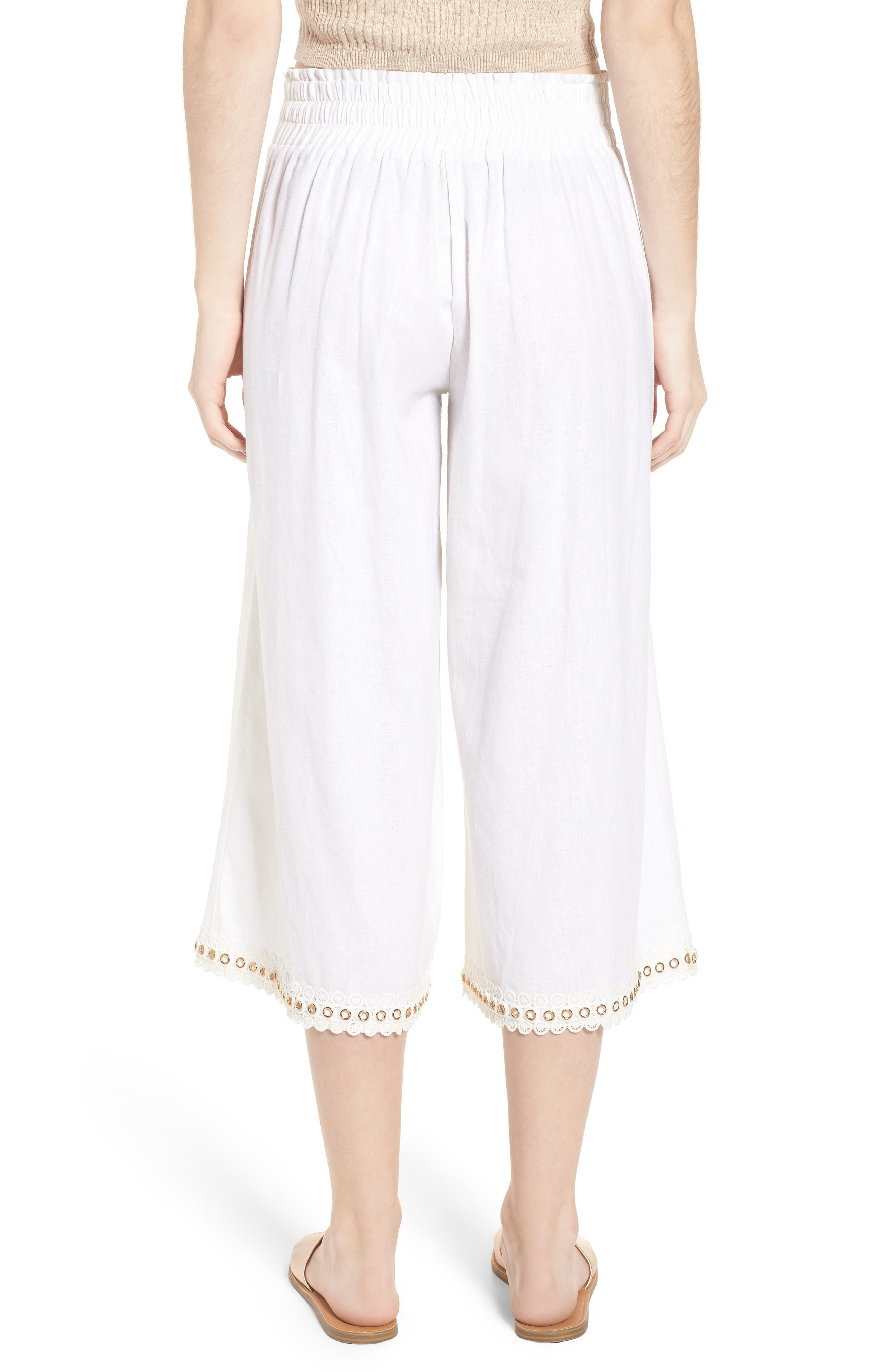 Imara Linen Blend Pants,                             Alternate thumbnail 2, color,                             White