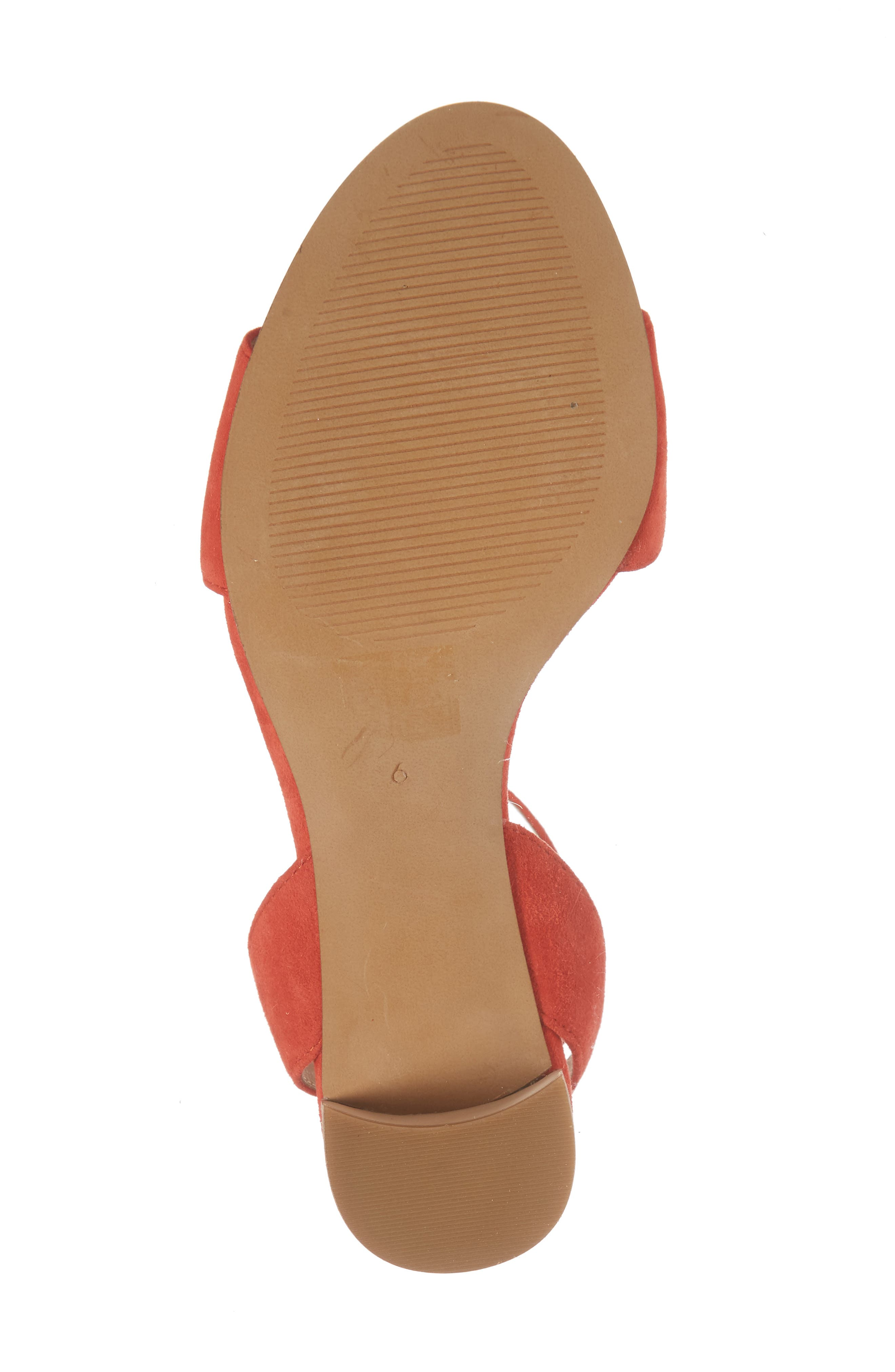 The Claudia Sandal,                             Alternate thumbnail 6, color,                             Siberian Red Suede