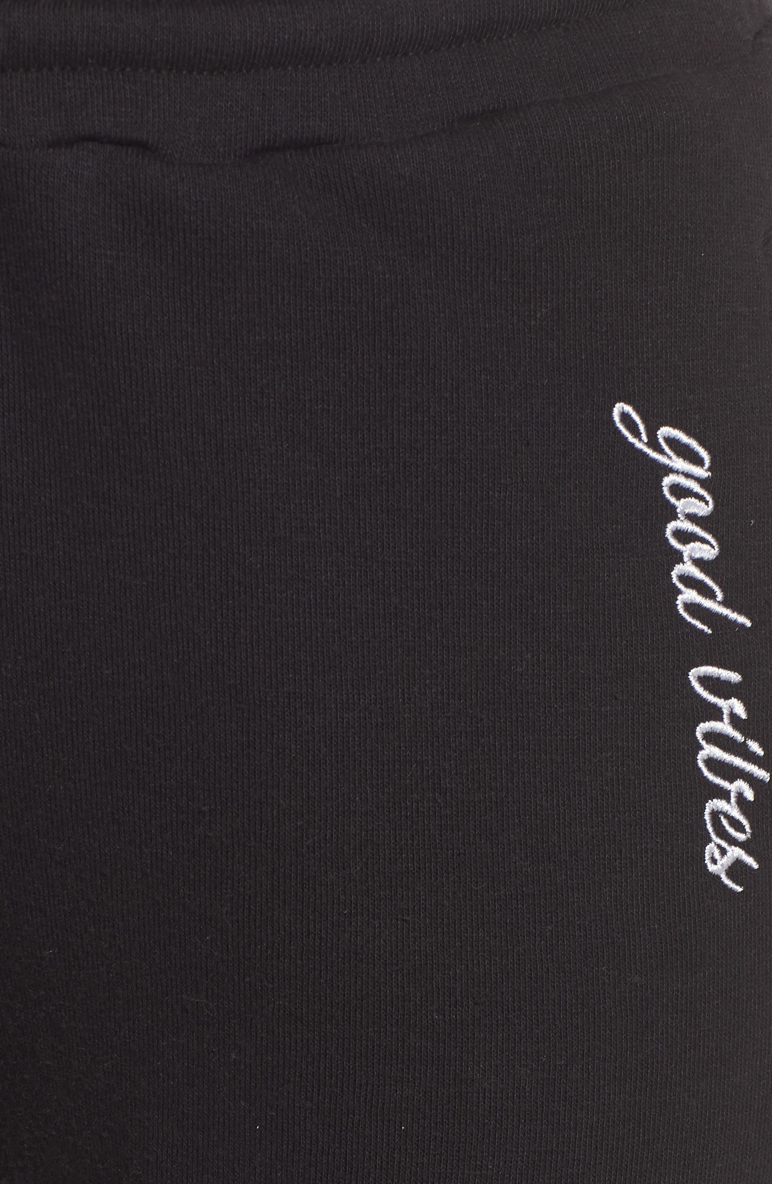 Cambridge Good Vibes Sweatpants,                             Alternate thumbnail 6, color,                             Black