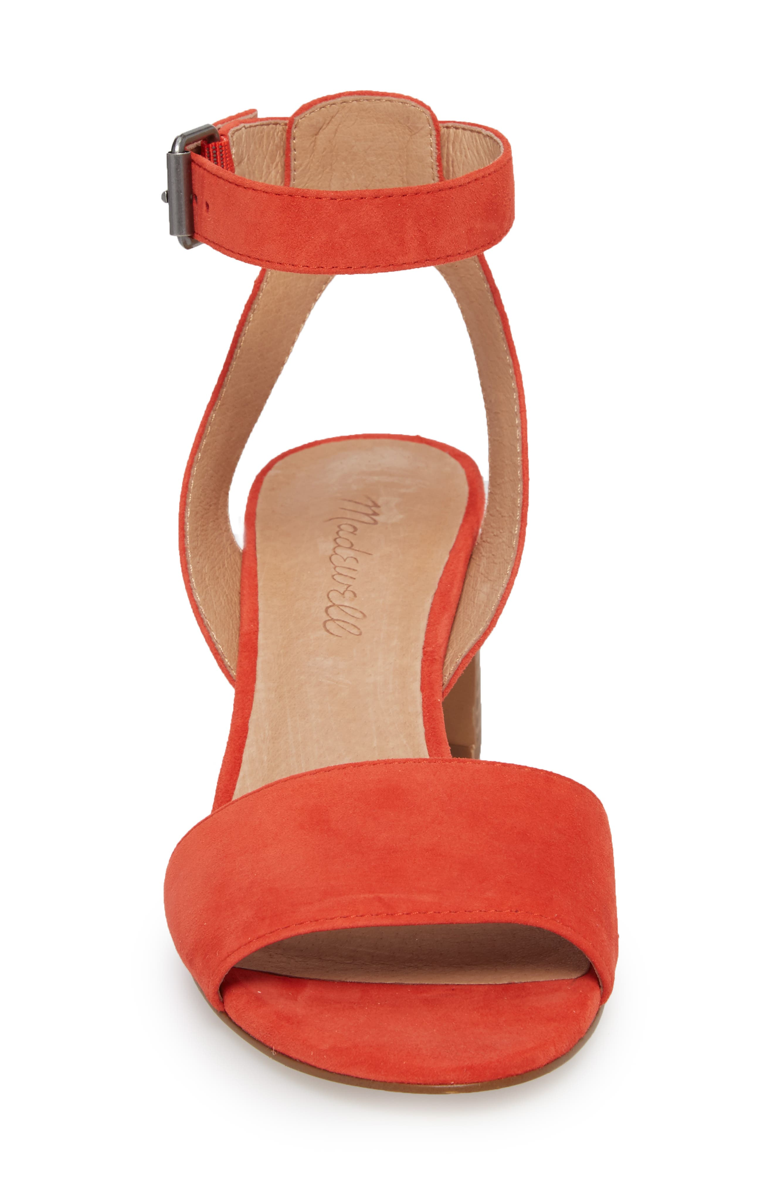 The Claudia Sandal,                             Alternate thumbnail 4, color,                             Siberian Red Suede