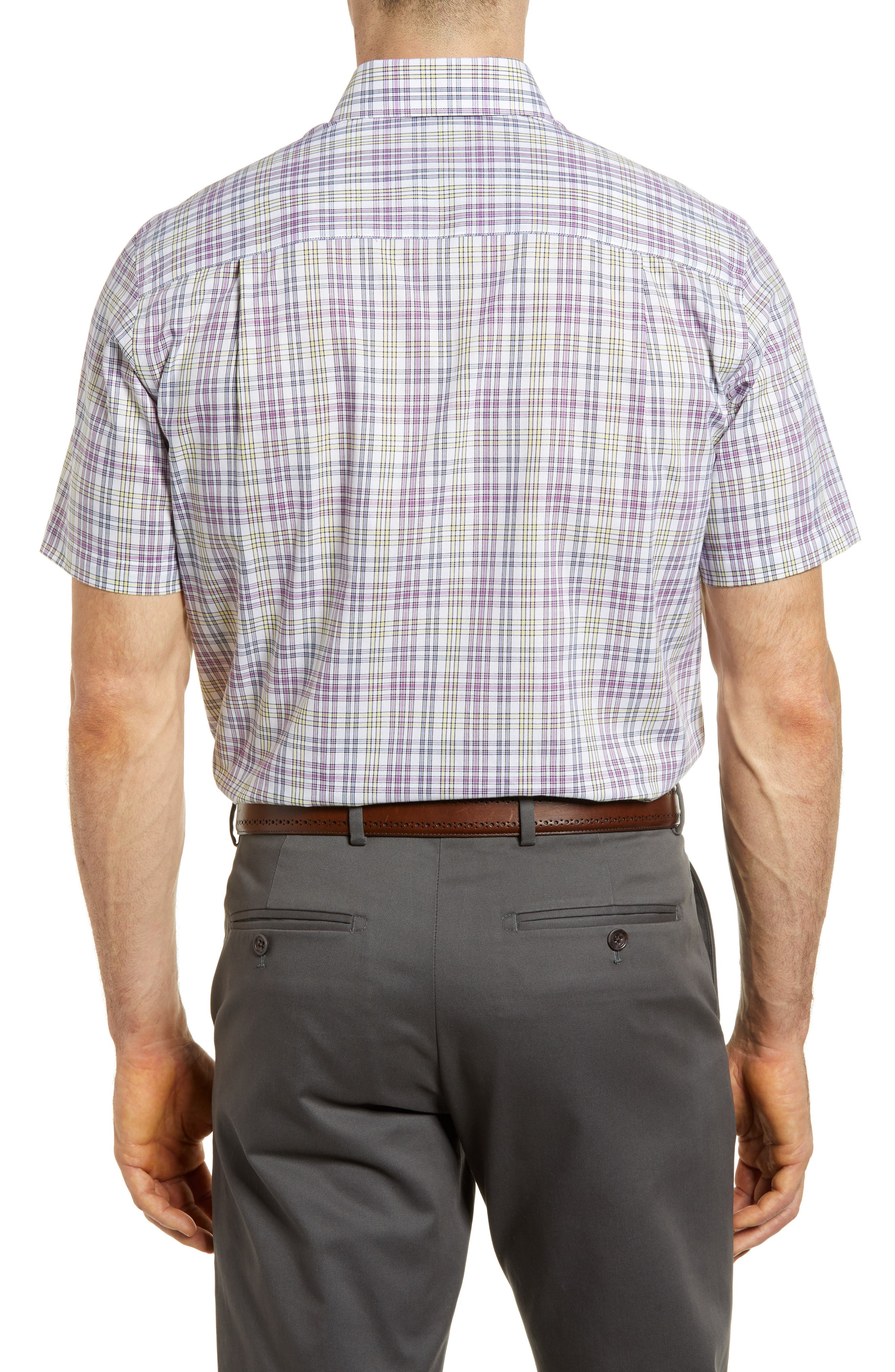 Isaac Plaid Easy Care Woven Shirt,                             Alternate thumbnail 2, color,                             Magnetic