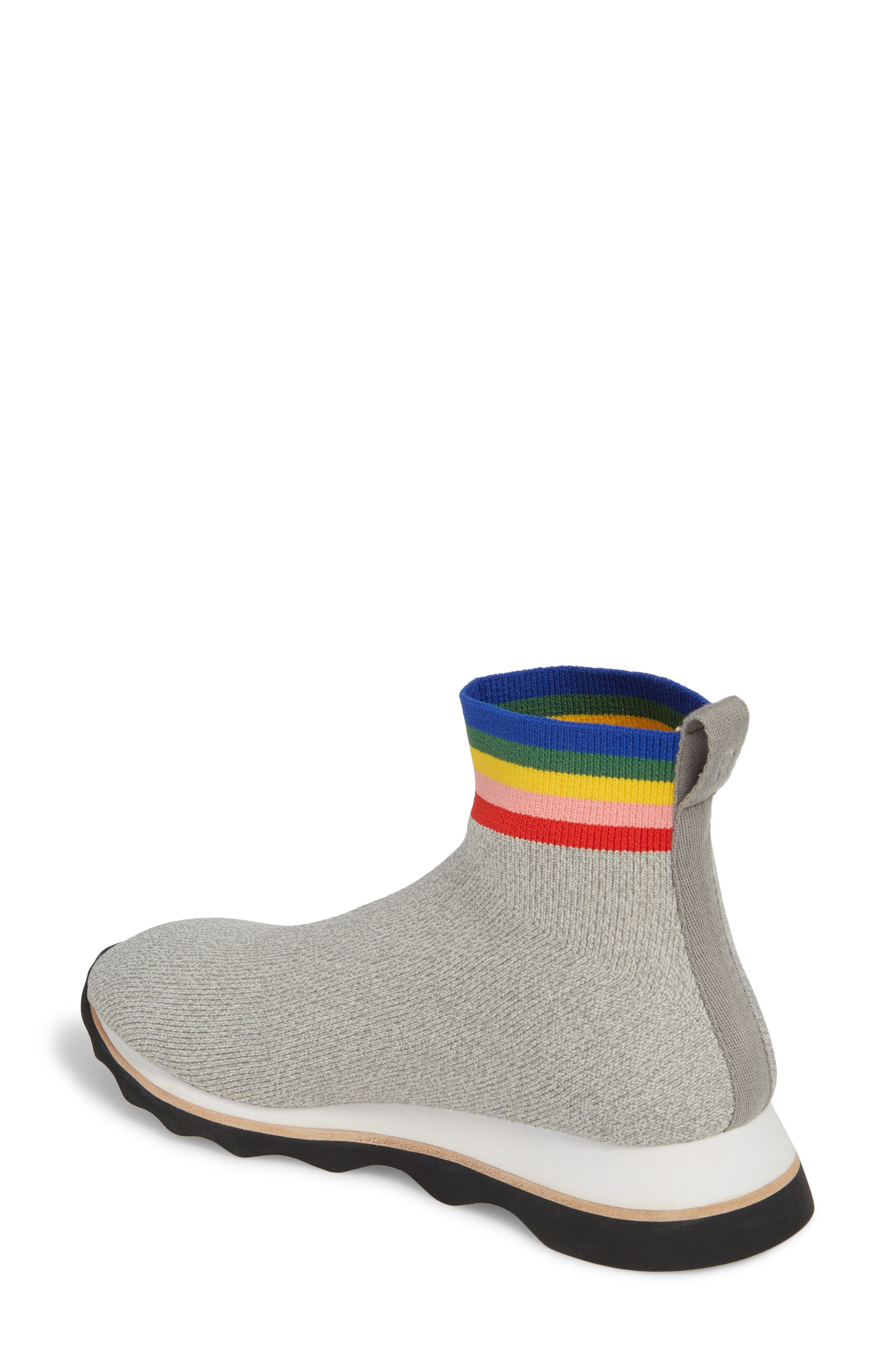 Scout Sock Sneaker,                             Alternate thumbnail 2, color,                             Grey/ Rainbow