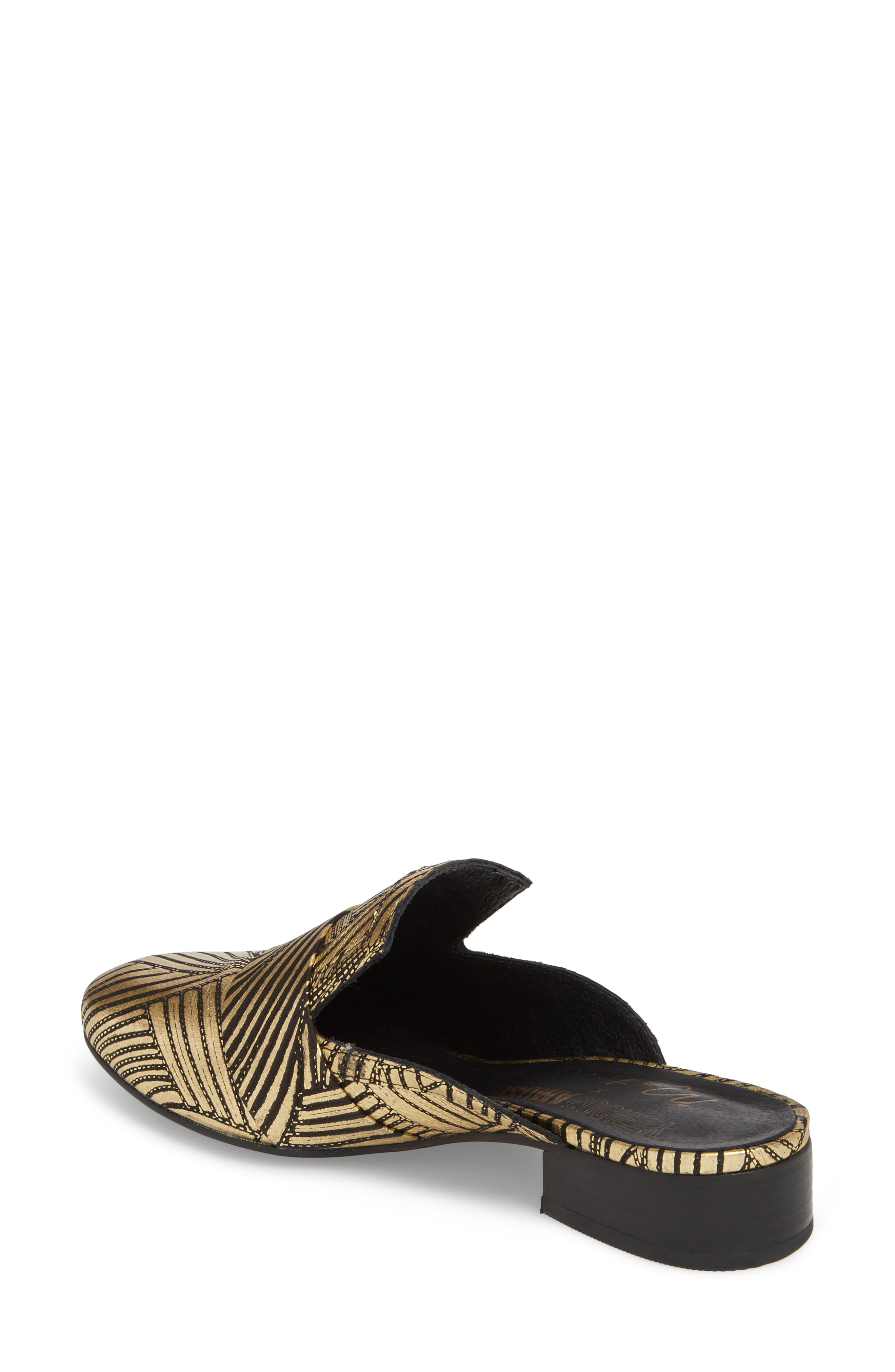 Amuse Society x Matisse Le Bella Loafer Mule,                             Alternate thumbnail 2, color,                             Gold Floral Leather