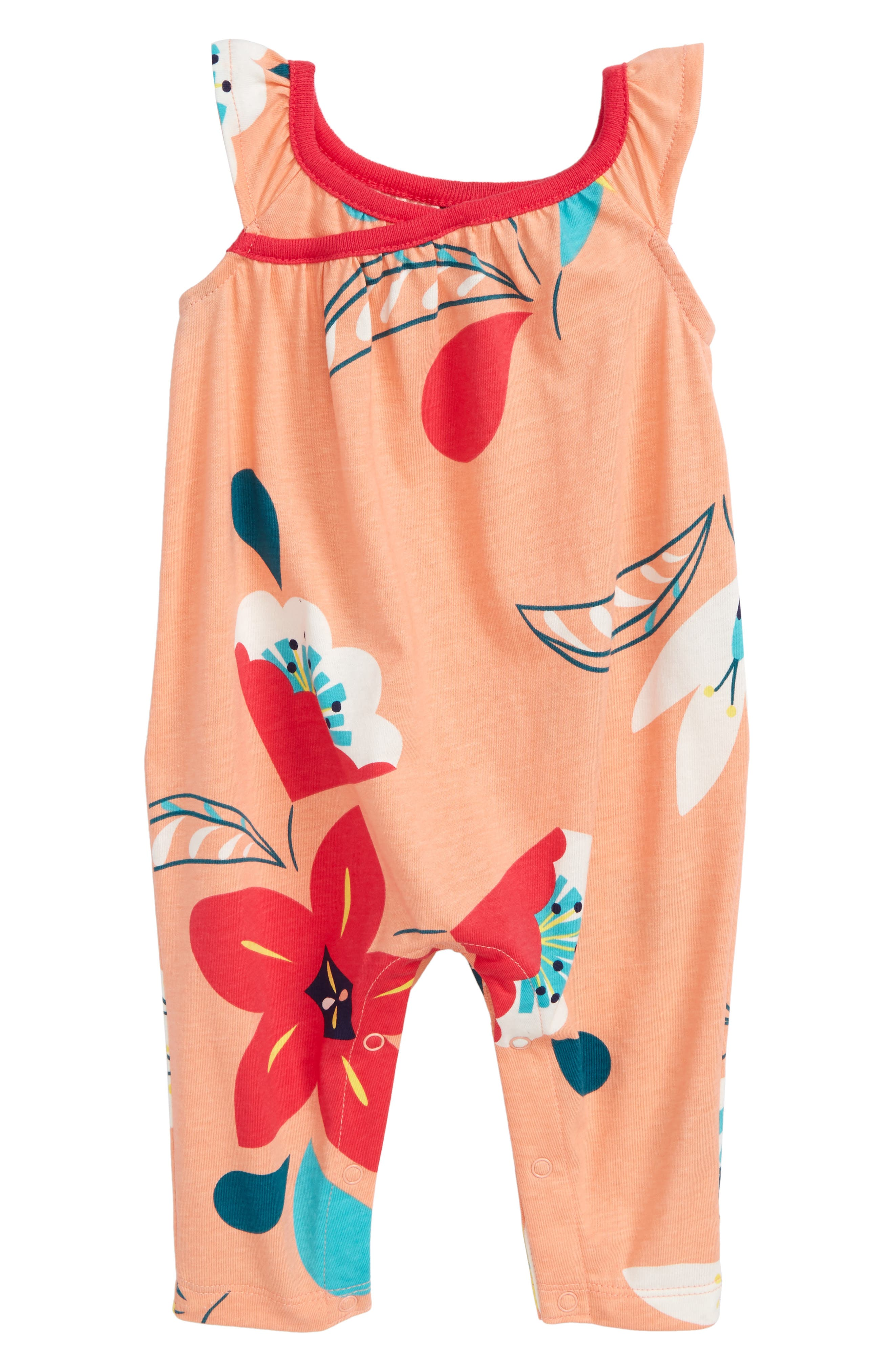 Tea Collection Wrap Neck Romper (Baby Girls)