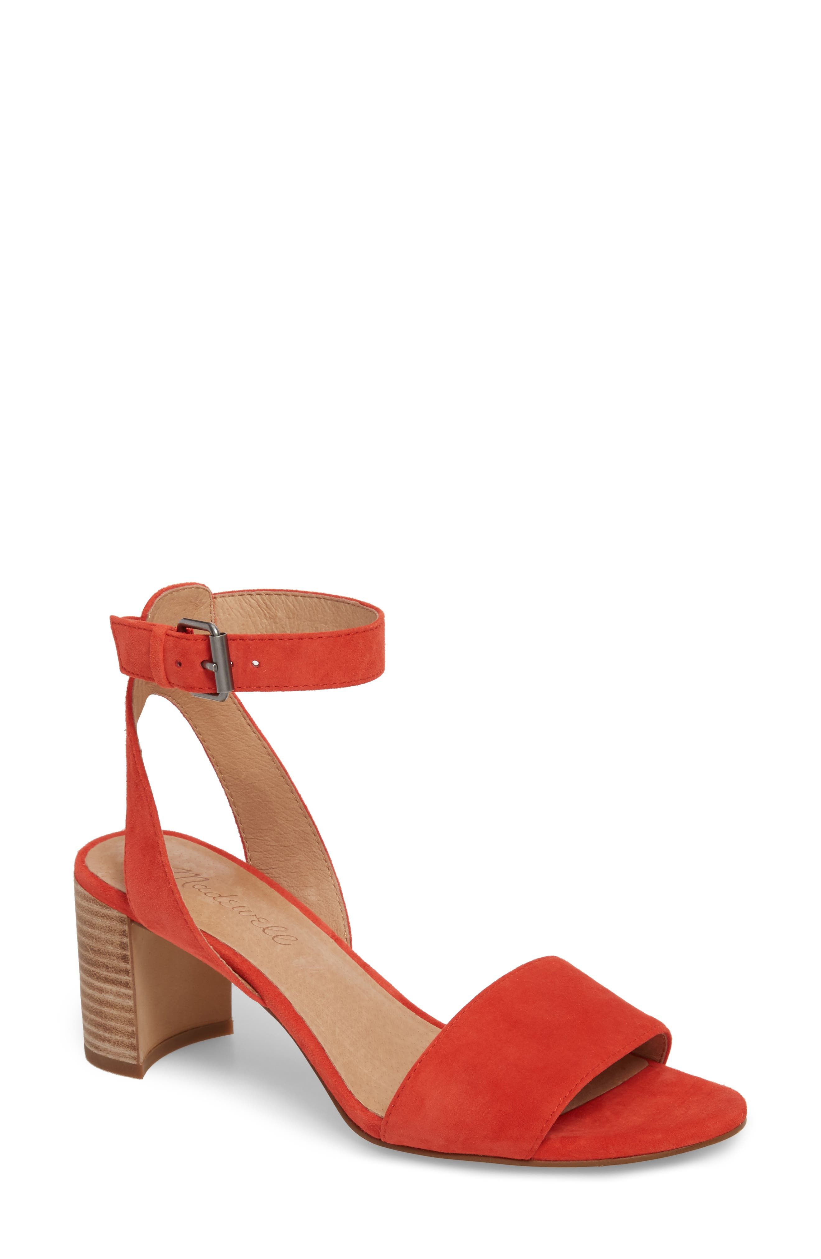 The Claudia Sandal,                             Main thumbnail 1, color,                             Siberian Red Suede