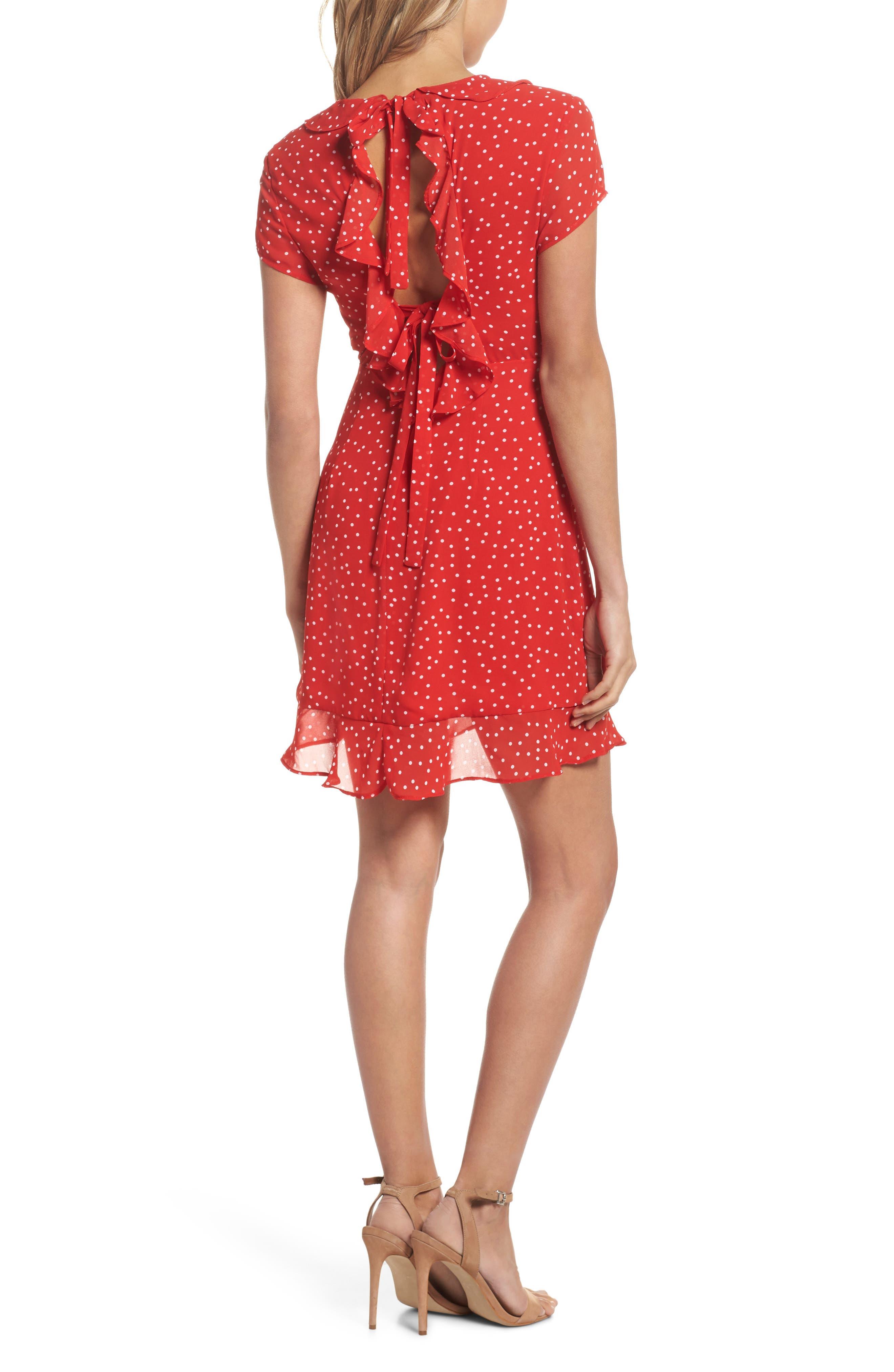 Alternate Image 3  - Bardot Polka Dot Ruffle Dress