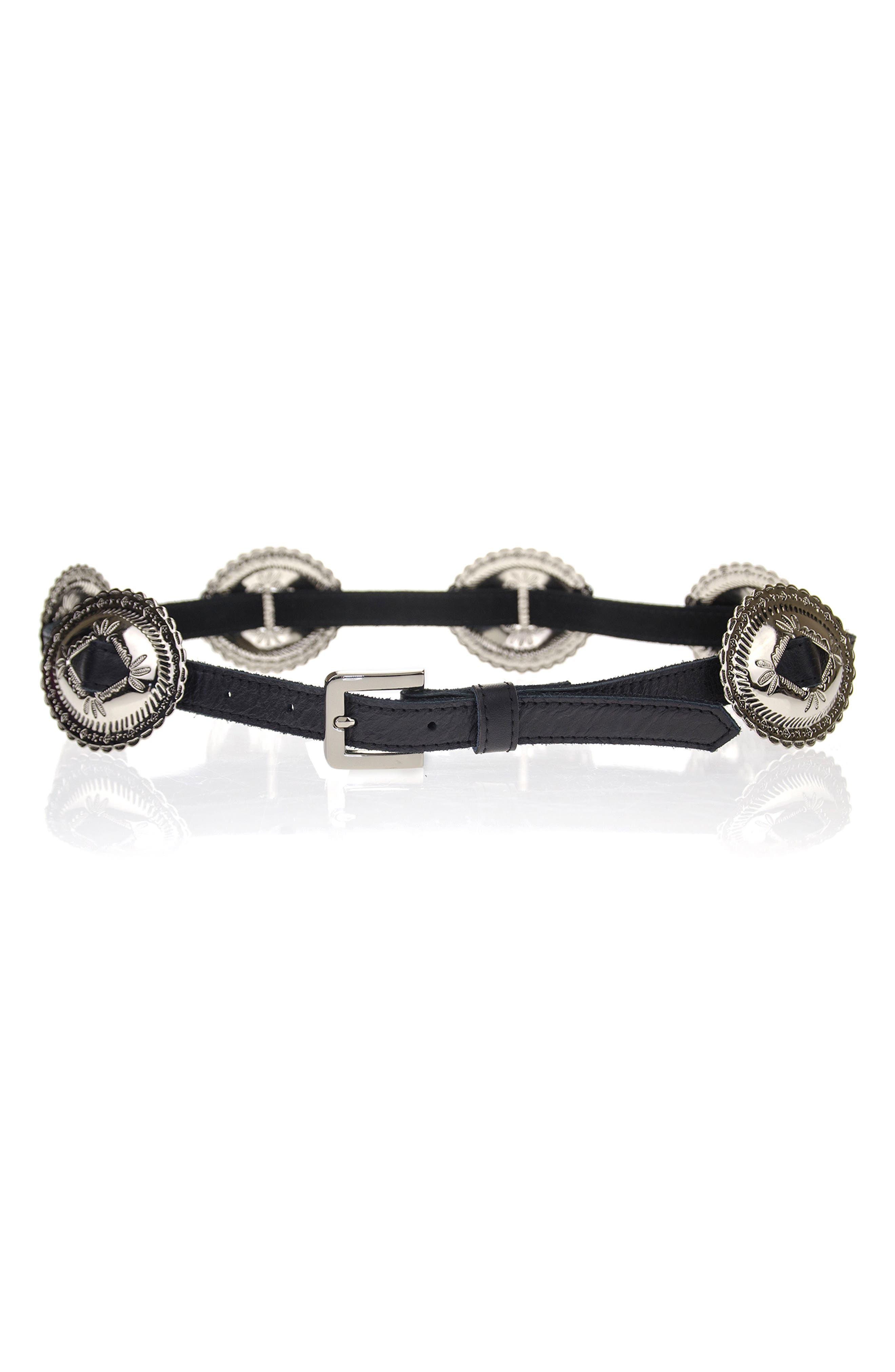 Phoenix Concho Belt,                         Main,                         color, Black