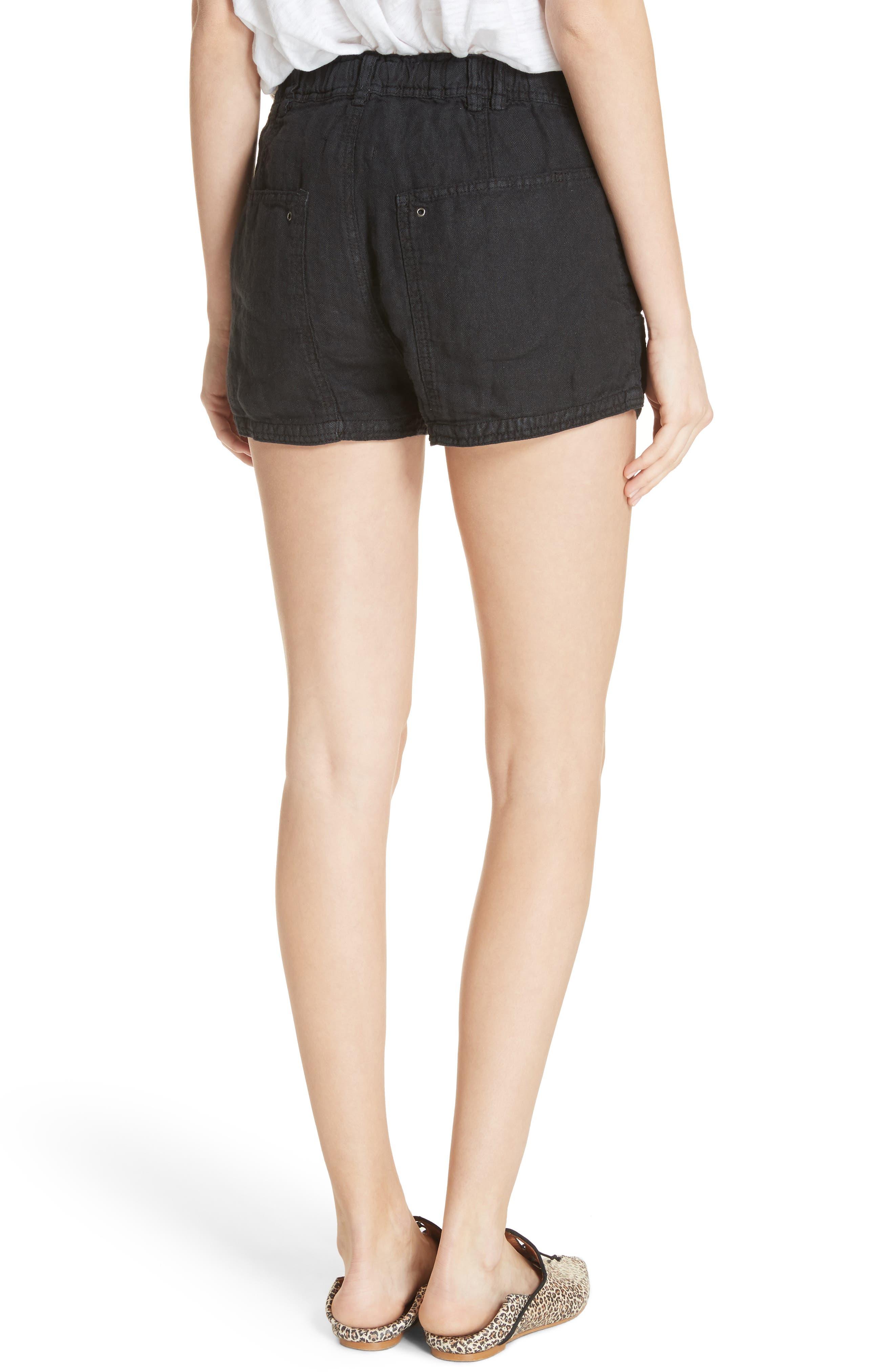Beacon Utility Linen Shorts,                             Alternate thumbnail 2, color,                             Black