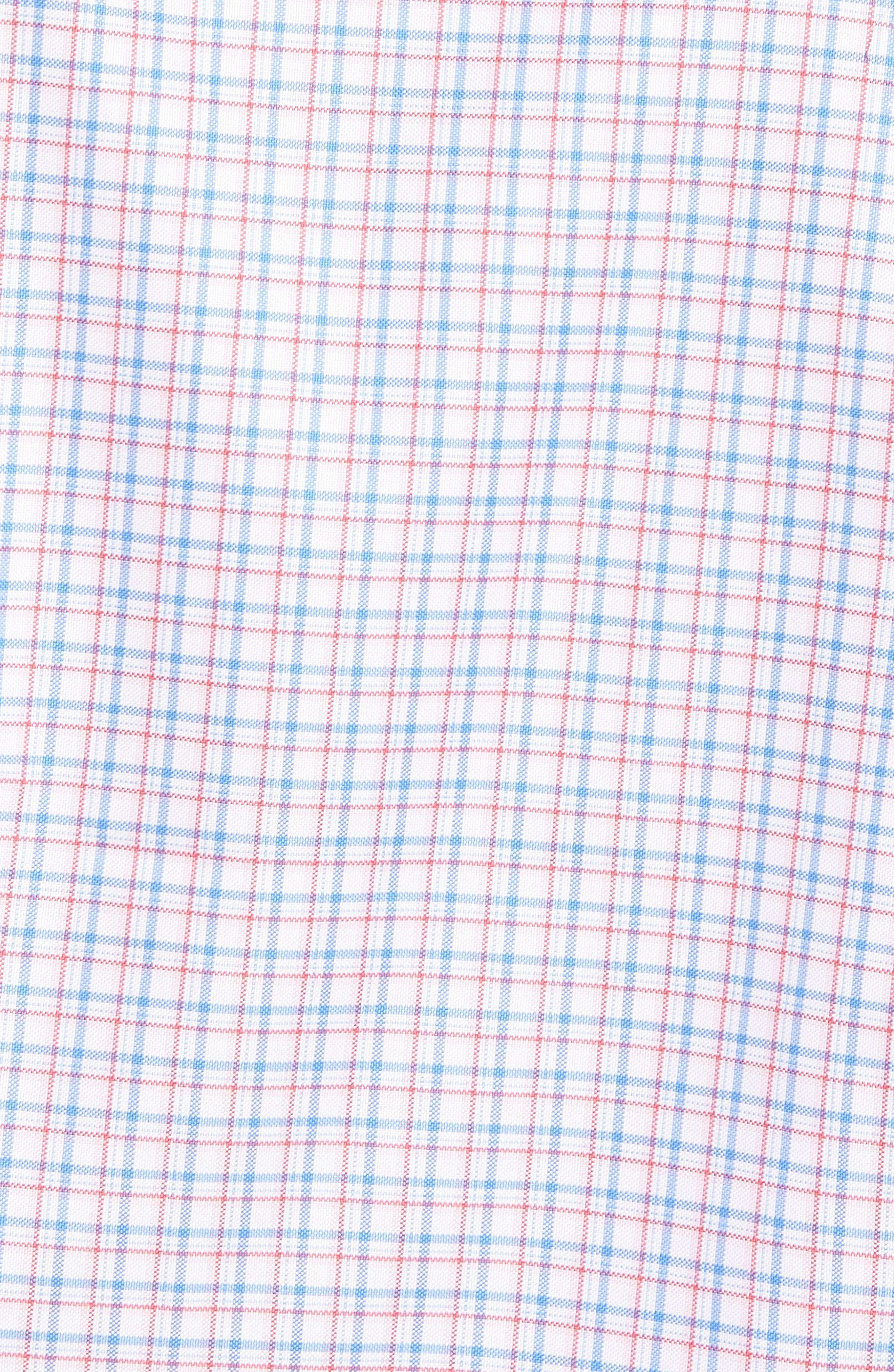 Regular Fit Check Sport Shirt,                             Alternate thumbnail 5, color,                             Blue/ Pink
