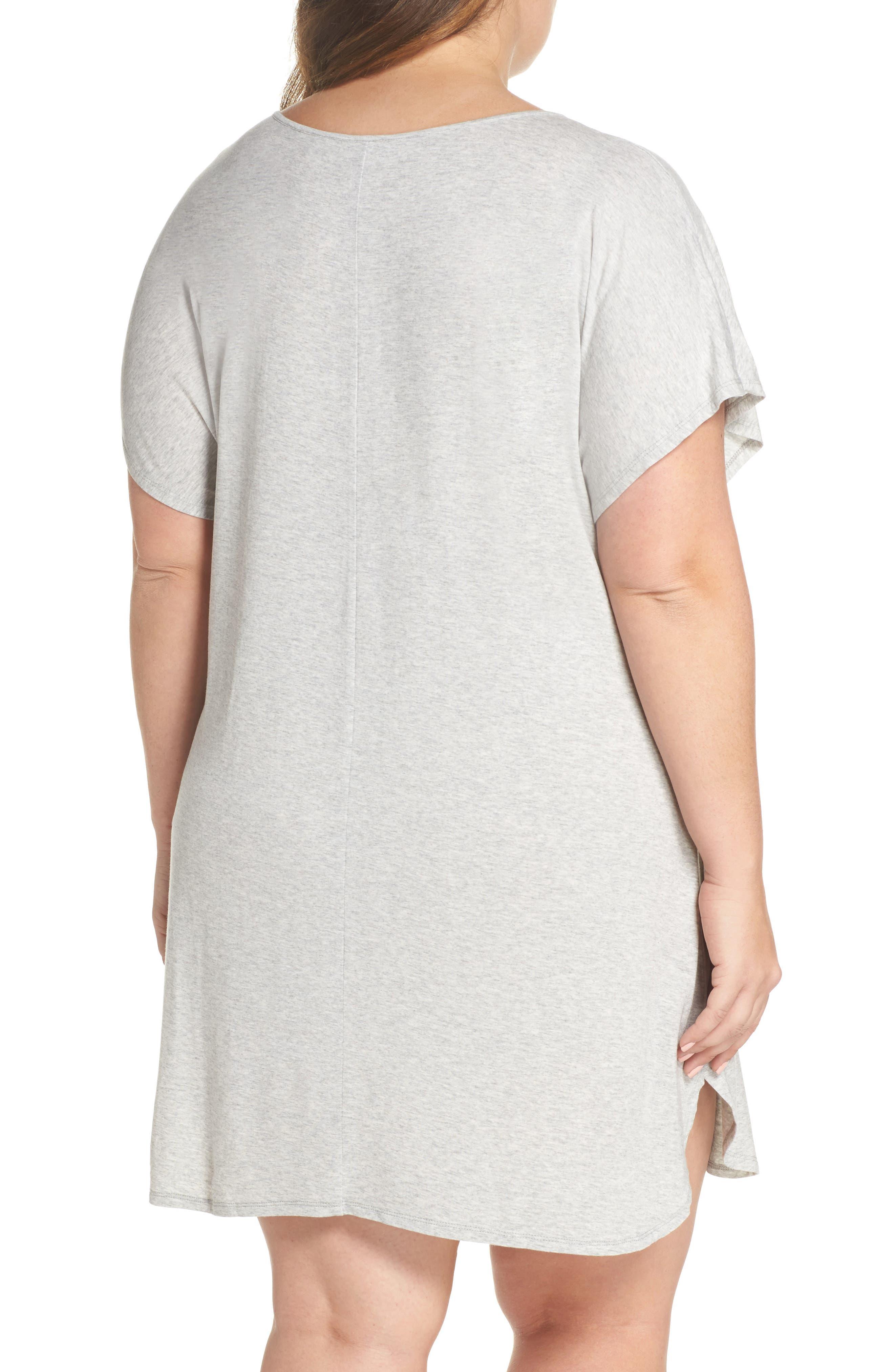 Dolman Sleeve Nightshirt,                             Alternate thumbnail 2, color,                             Grey Pearl Heather
