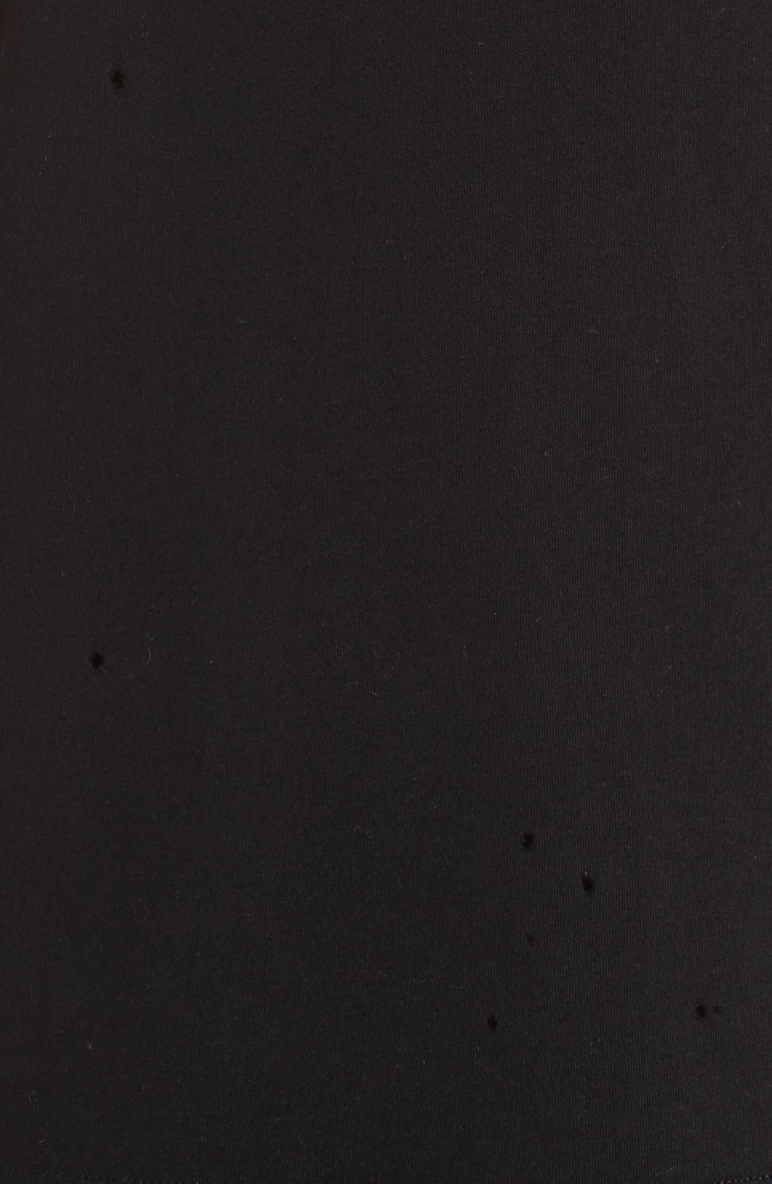 Distressed Tee,                             Alternate thumbnail 6, color,                             Black/ Distressed Holes