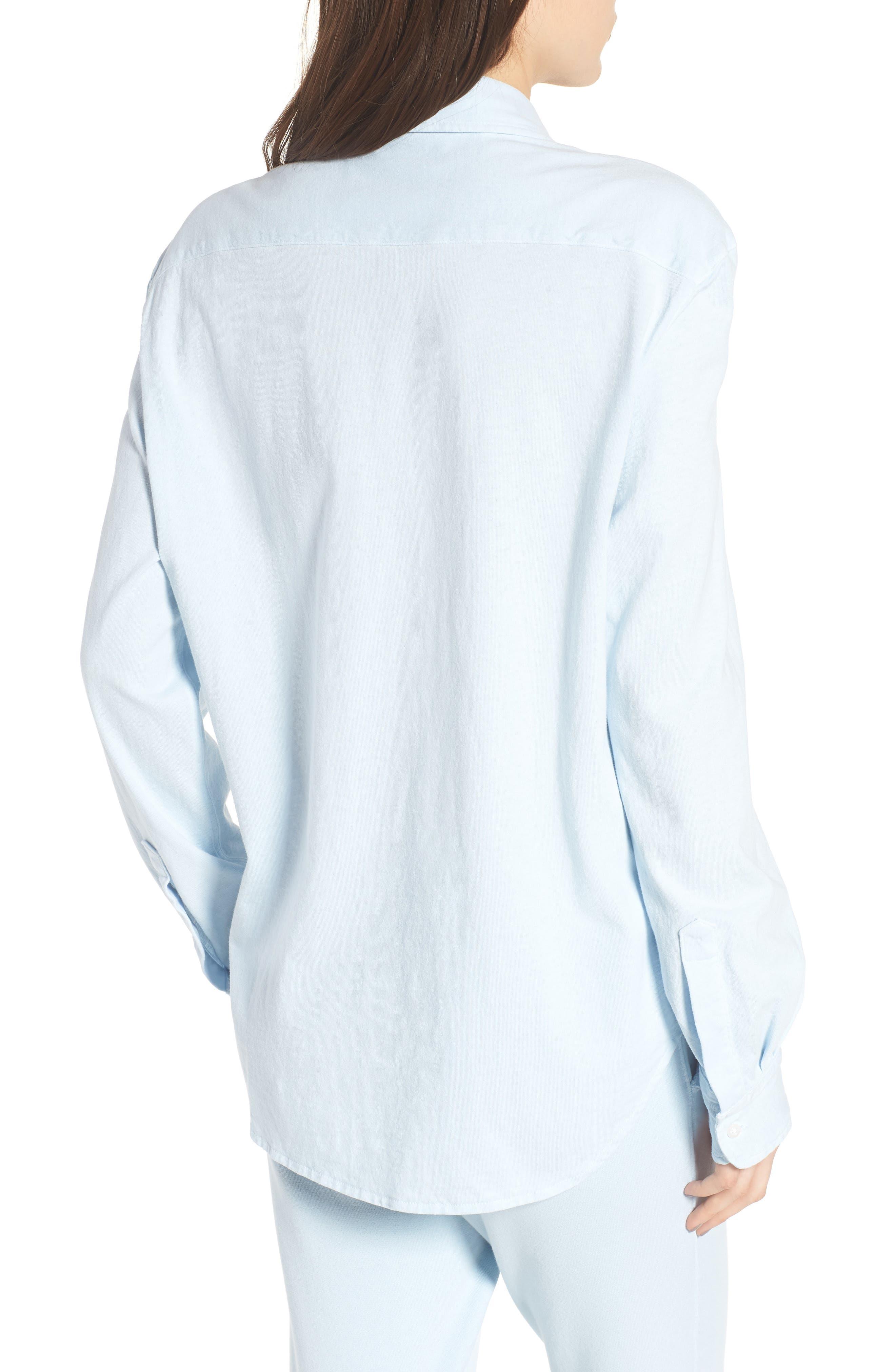 Knit Button Front Shirt,                             Alternate thumbnail 2, color,                             Mali-Blue