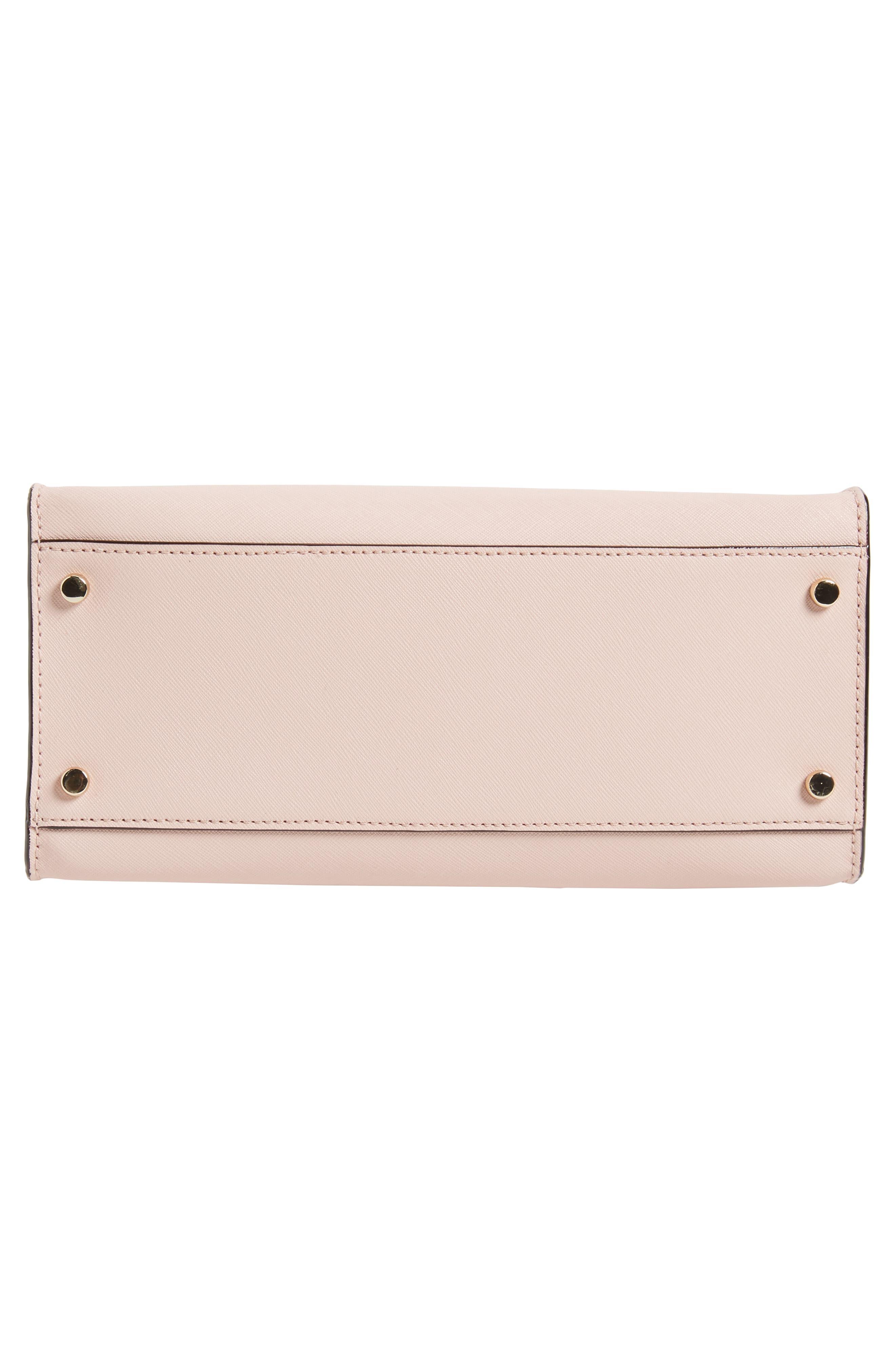 cameron street - sara leather satchel,                             Alternate thumbnail 6, color,                             Warm Vellum