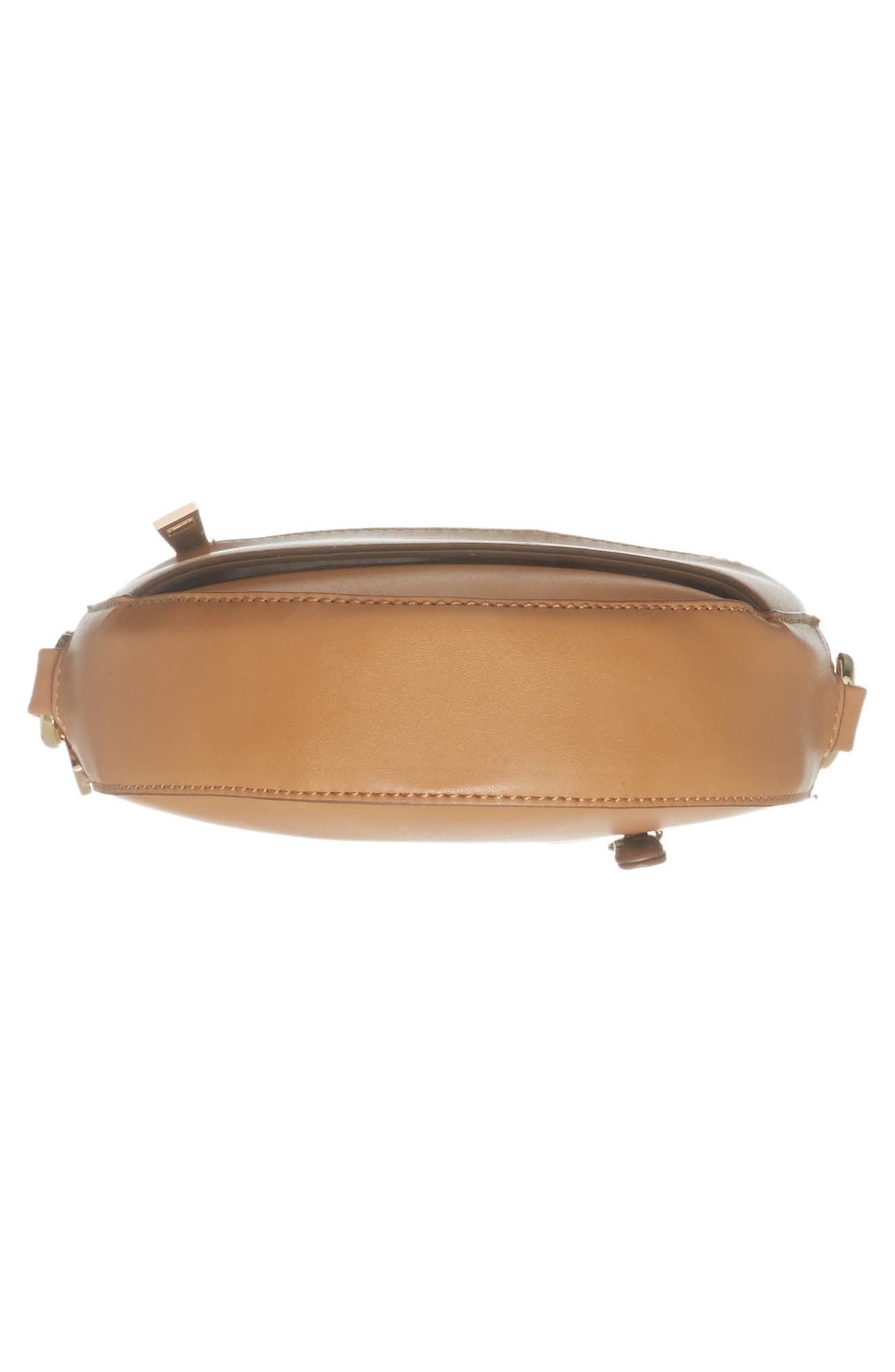 Faux Leather Canteen Crossbody Bag,                             Alternate thumbnail 6, color,                             Camel