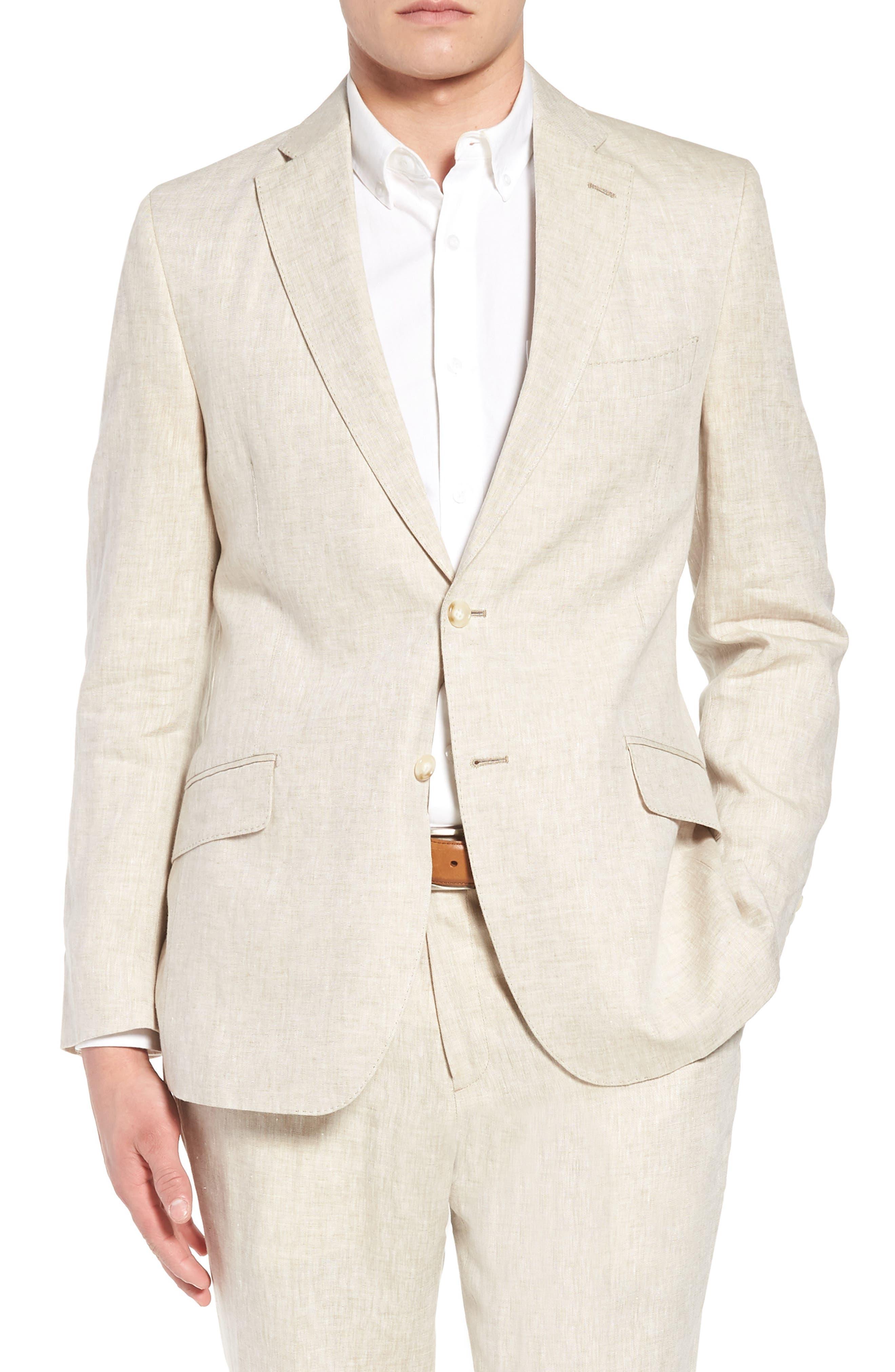 Jack AIM Classic Fit Linen Blazer,                         Main,                         color, Natural