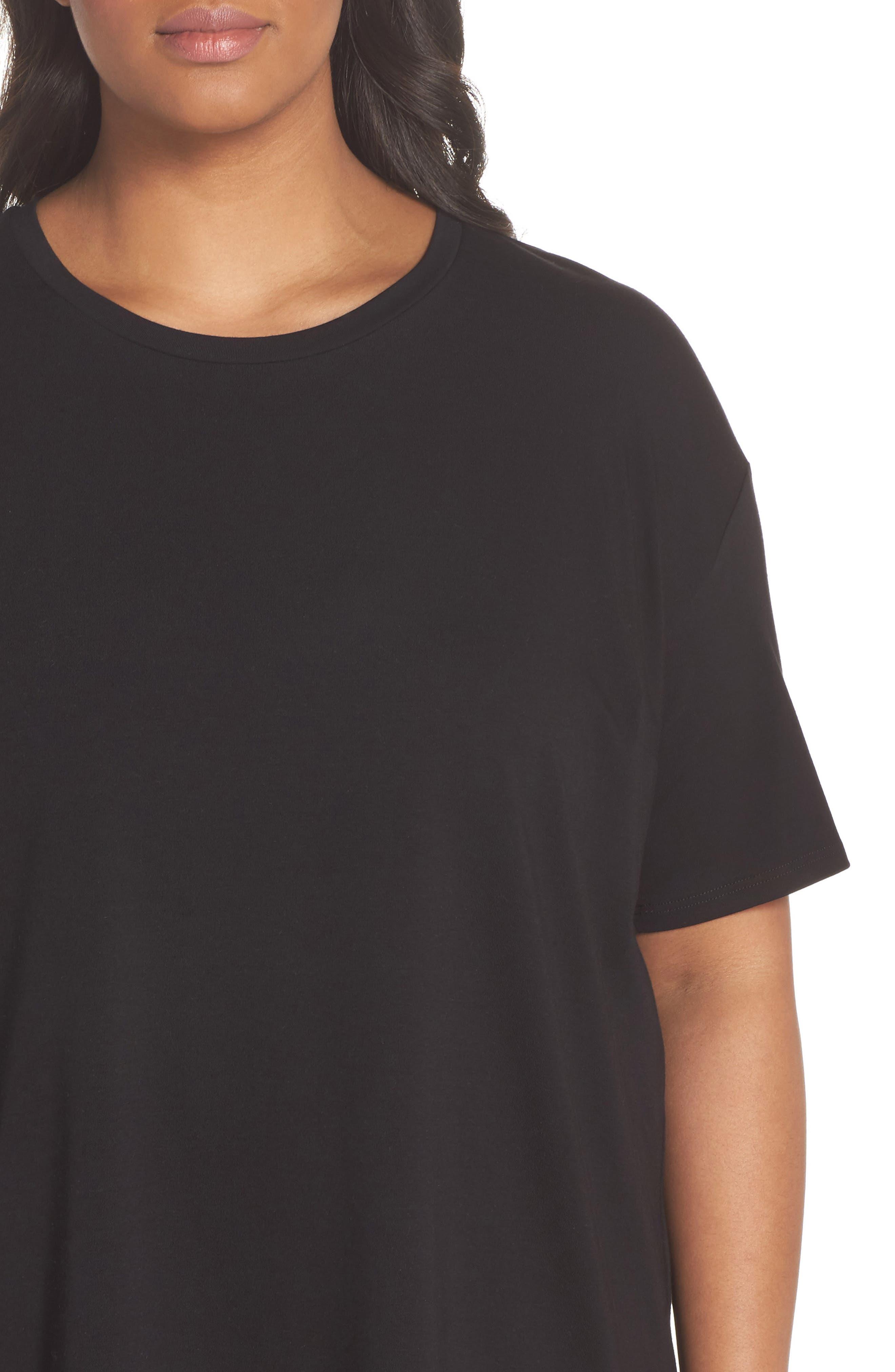 Knit Jersey Dress,                             Alternate thumbnail 4, color,                             Black