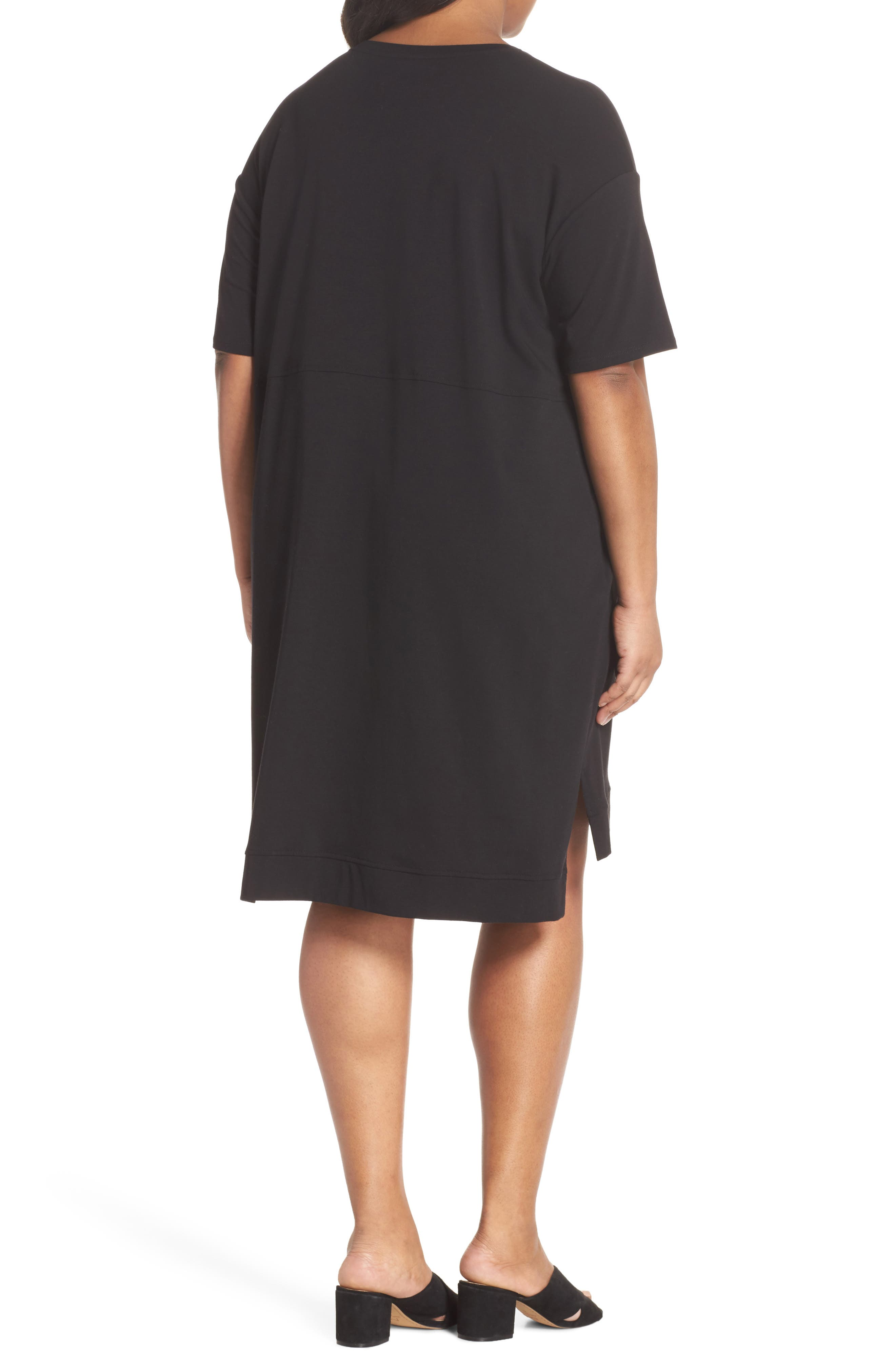 Knit Jersey Dress,                             Alternate thumbnail 2, color,                             Black