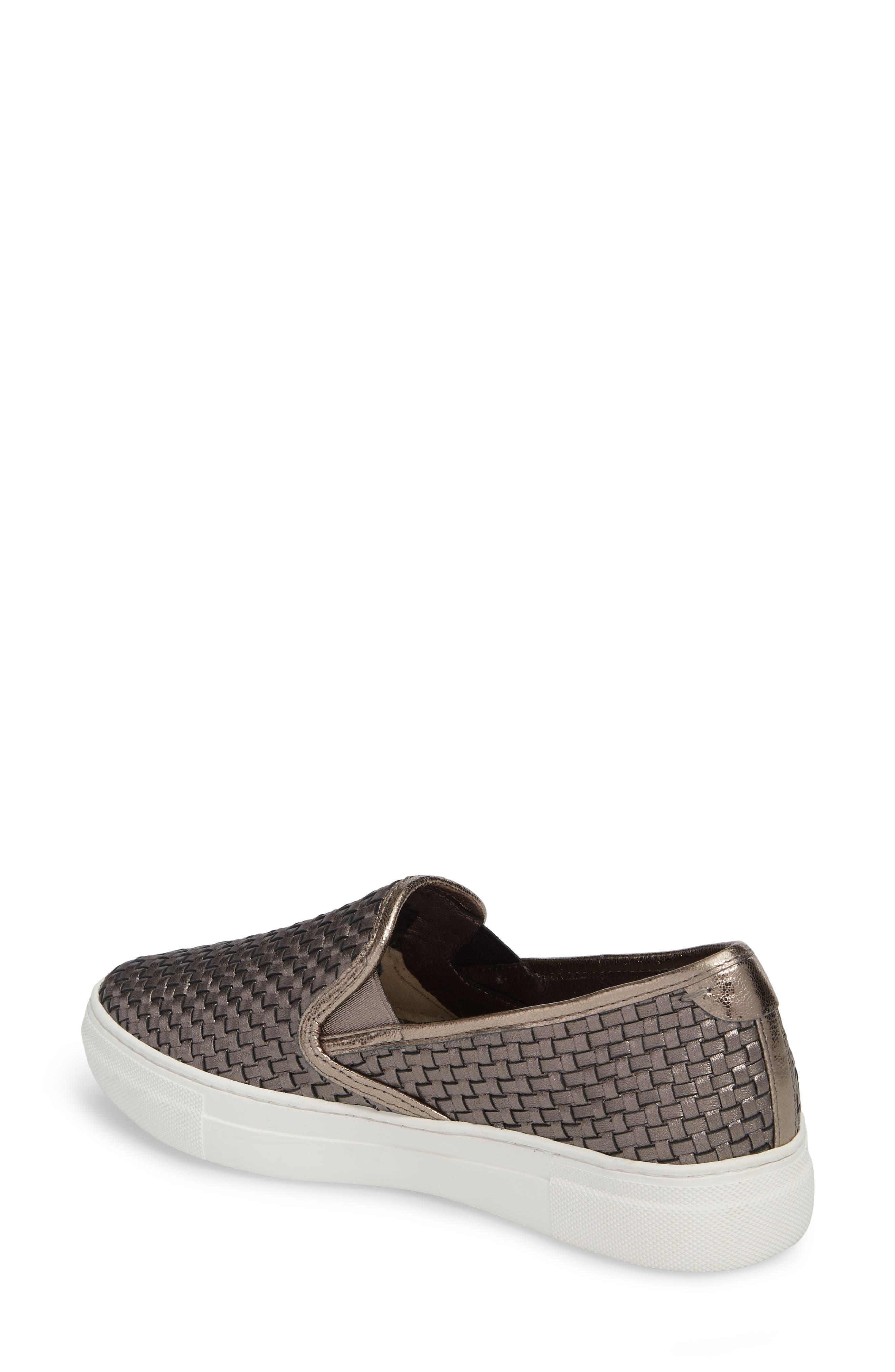 Flynn Slip-On Sneaker,                             Alternate thumbnail 2, color,                             Pewter Leather