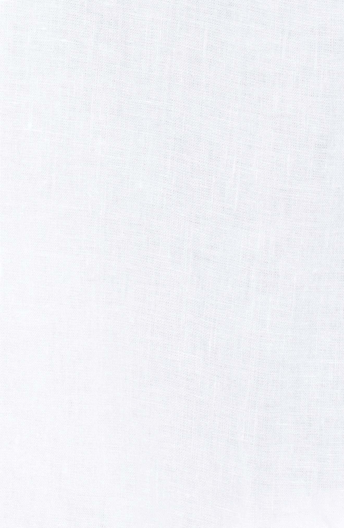 Long Linen Boyfriend Blazer,                             Alternate thumbnail 6, color,                             White