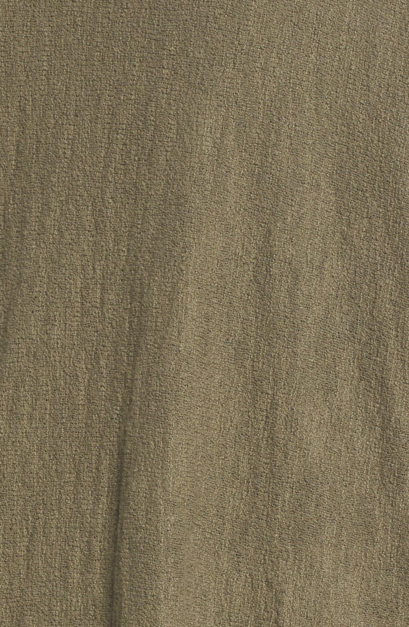 Drop Shoulder Cardigan,                             Alternate thumbnail 6, color,                             Olive Kalamata
