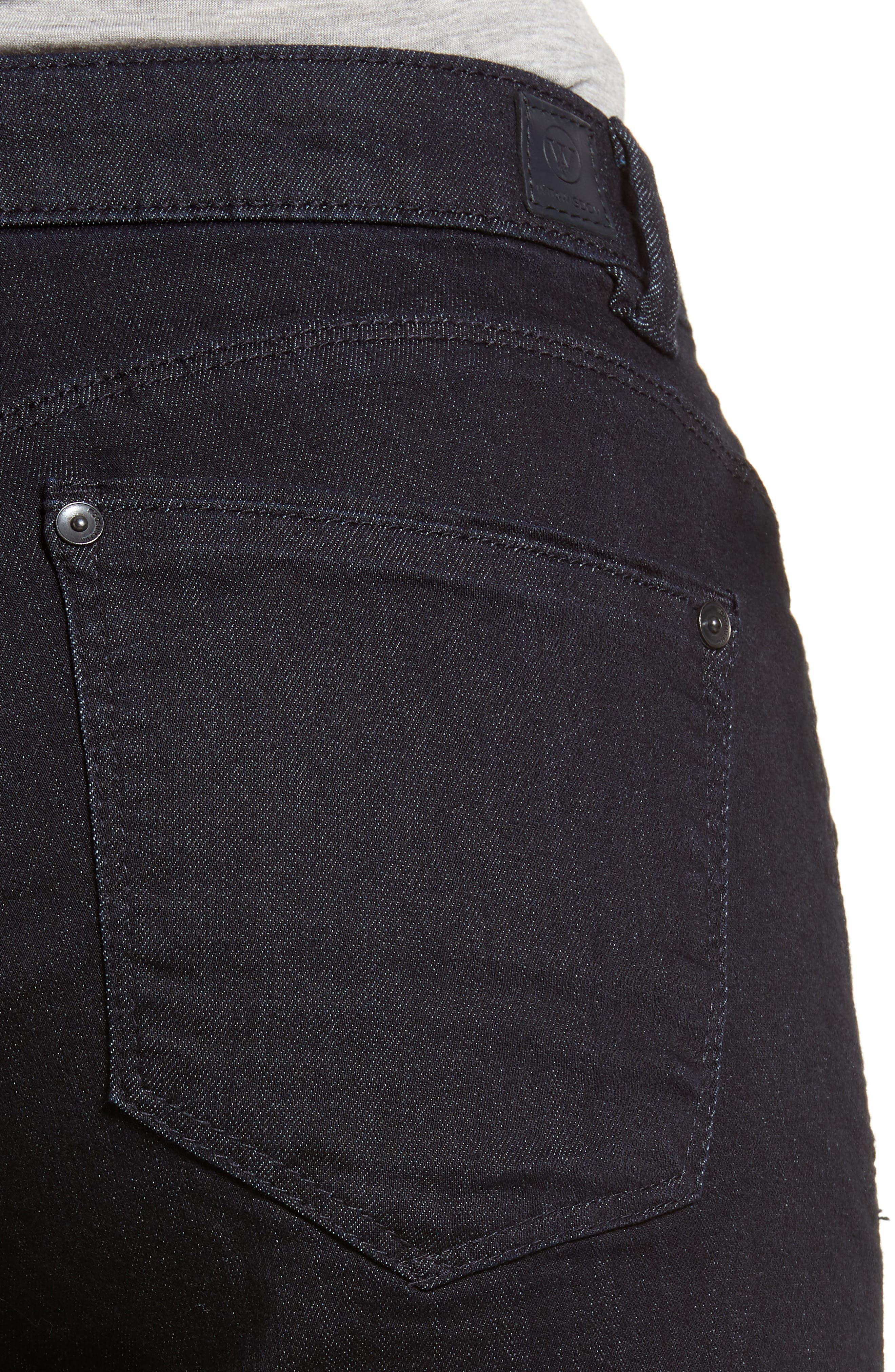 Classic High Waist Jeans,                             Alternate thumbnail 4, color,                             In-Indigo