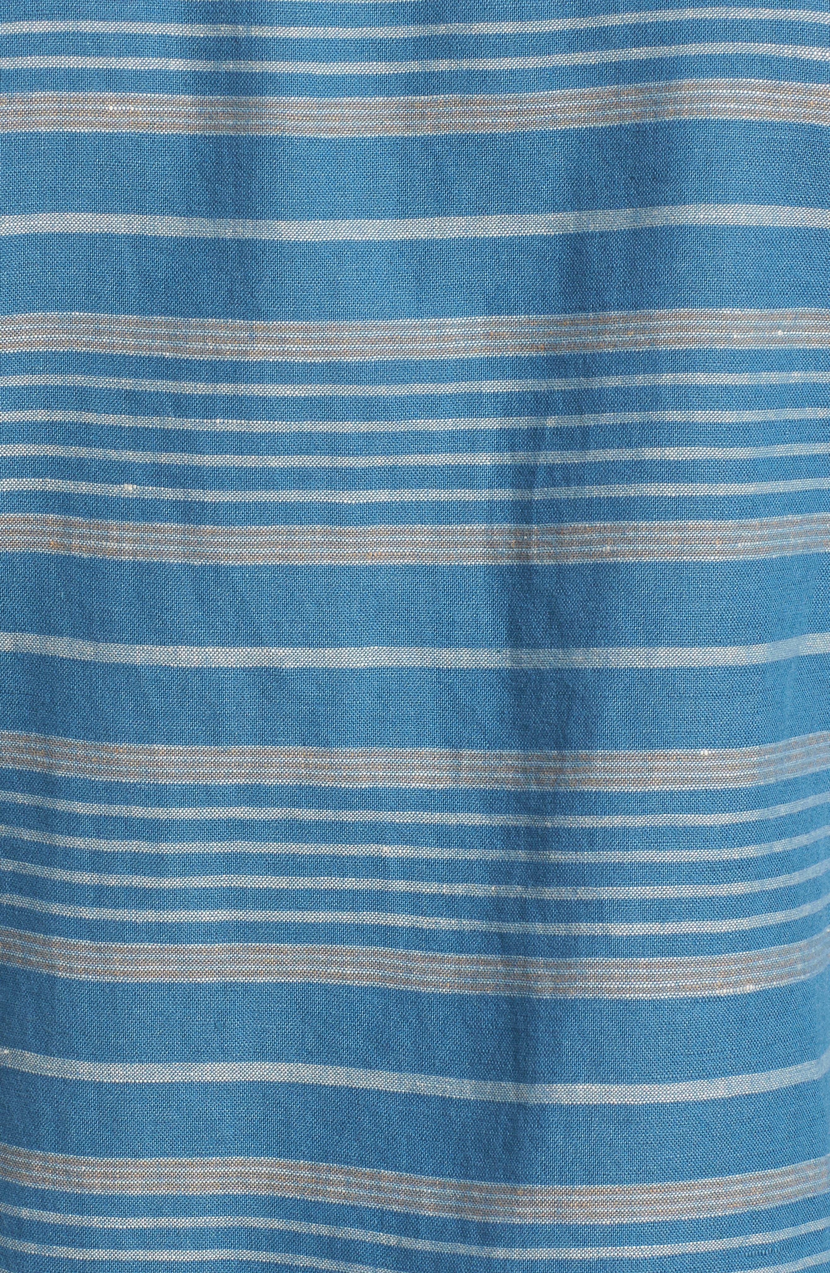 Kay Street Fitted Shirt,                             Alternate thumbnail 5, color,                             Navy/ Cream Stripe