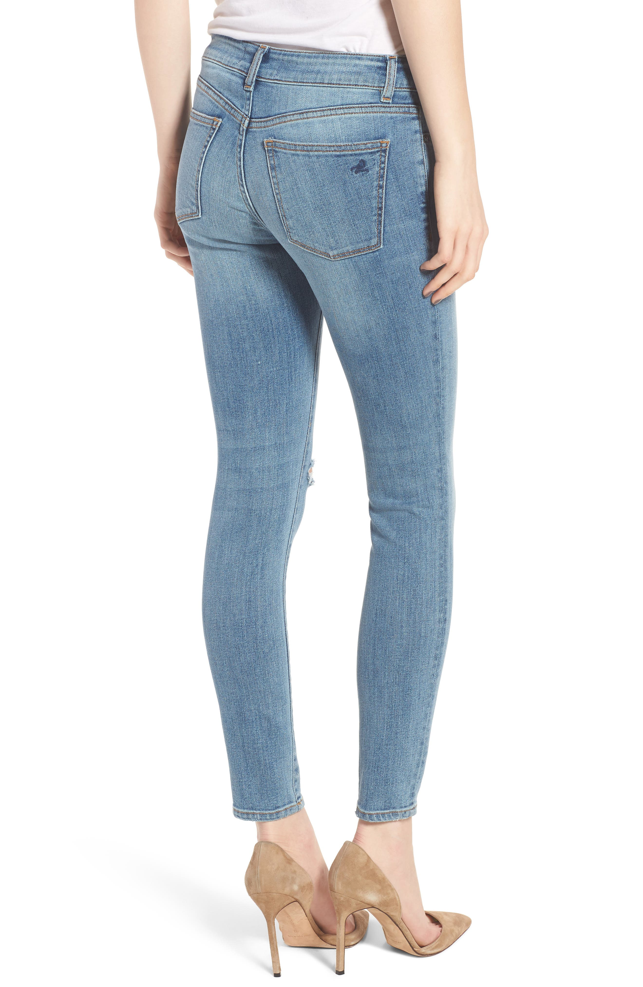 Margaux Instasculpt Ankle Skinny Jeans,                             Alternate thumbnail 2, color,                             Quincy