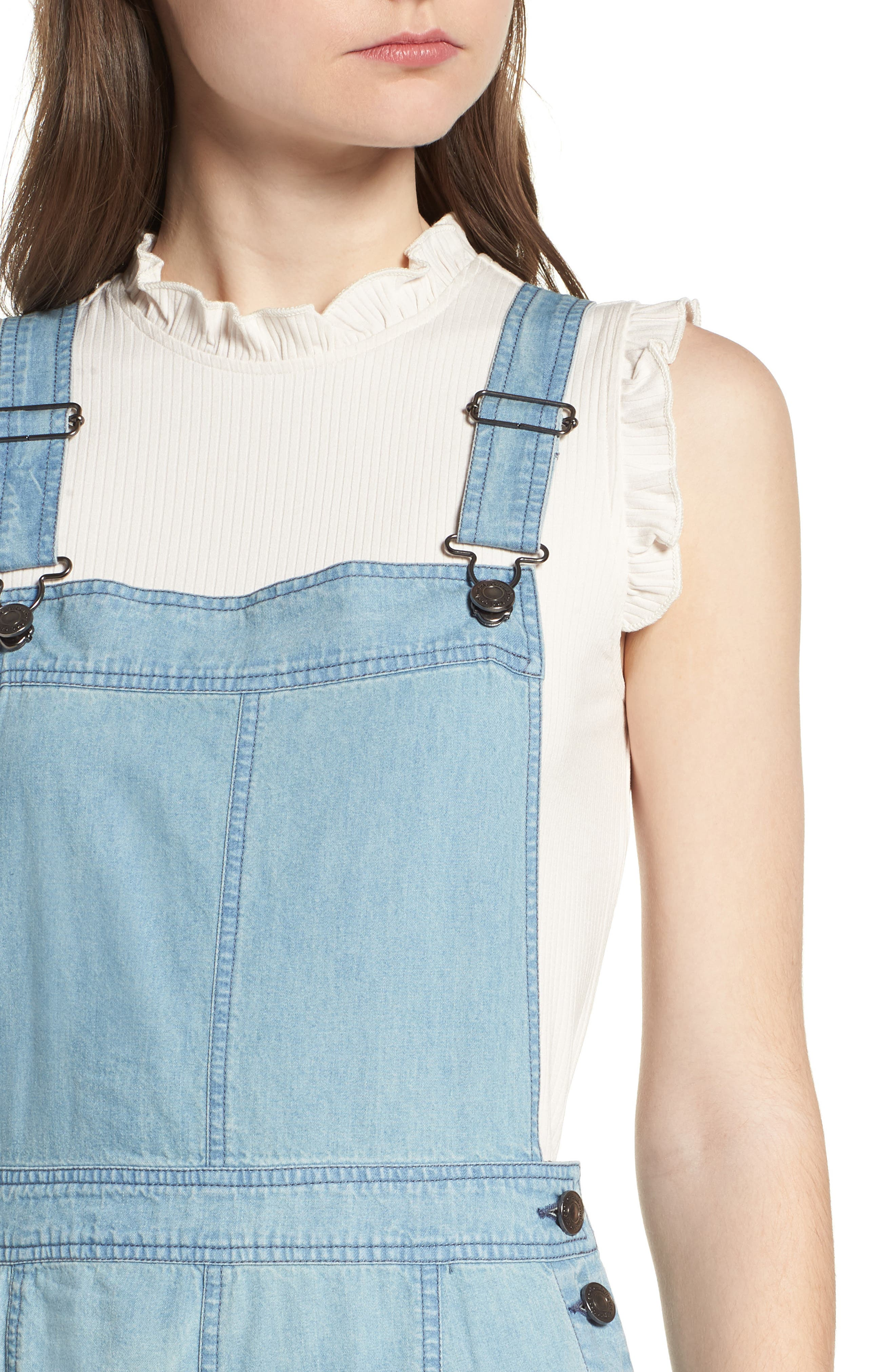 Meliani Denim Overalls,                             Alternate thumbnail 4, color,                             Denim