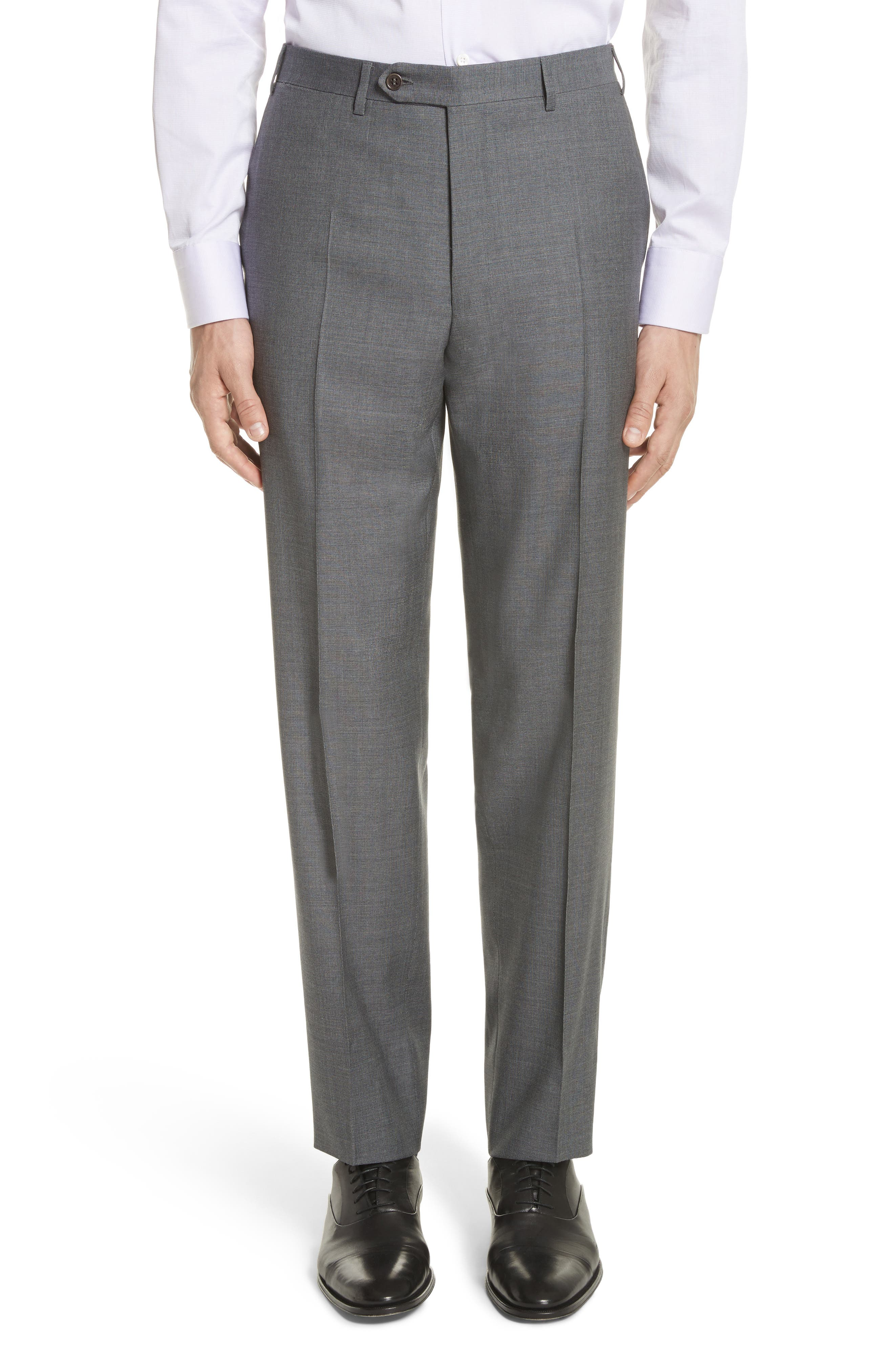 Classic Fit Wool Suit,                             Alternate thumbnail 6, color,                             Grey
