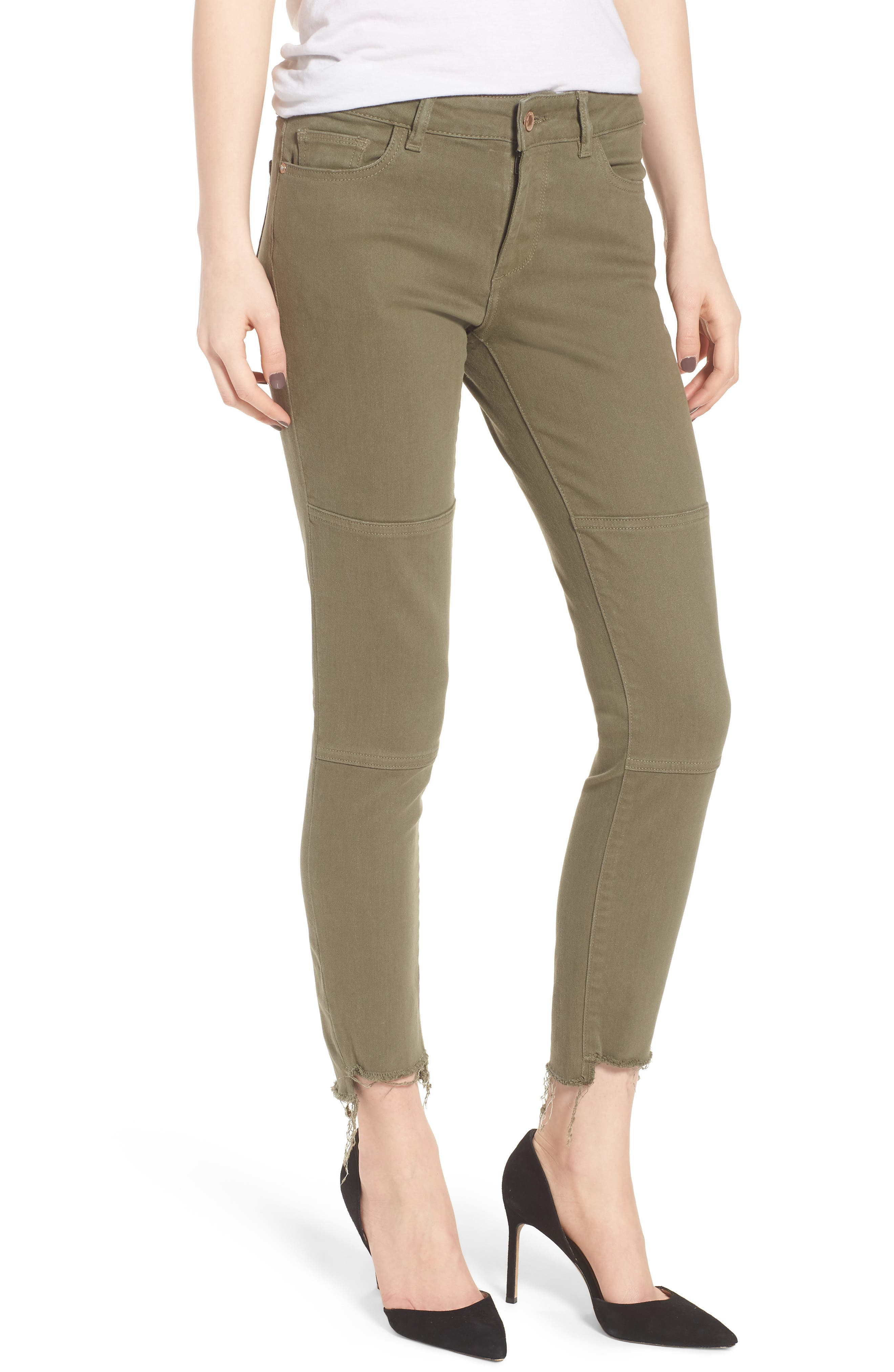 Margaux Instasculpt Ankle Skinny Jeans,                         Main,                         color, Cargo Green