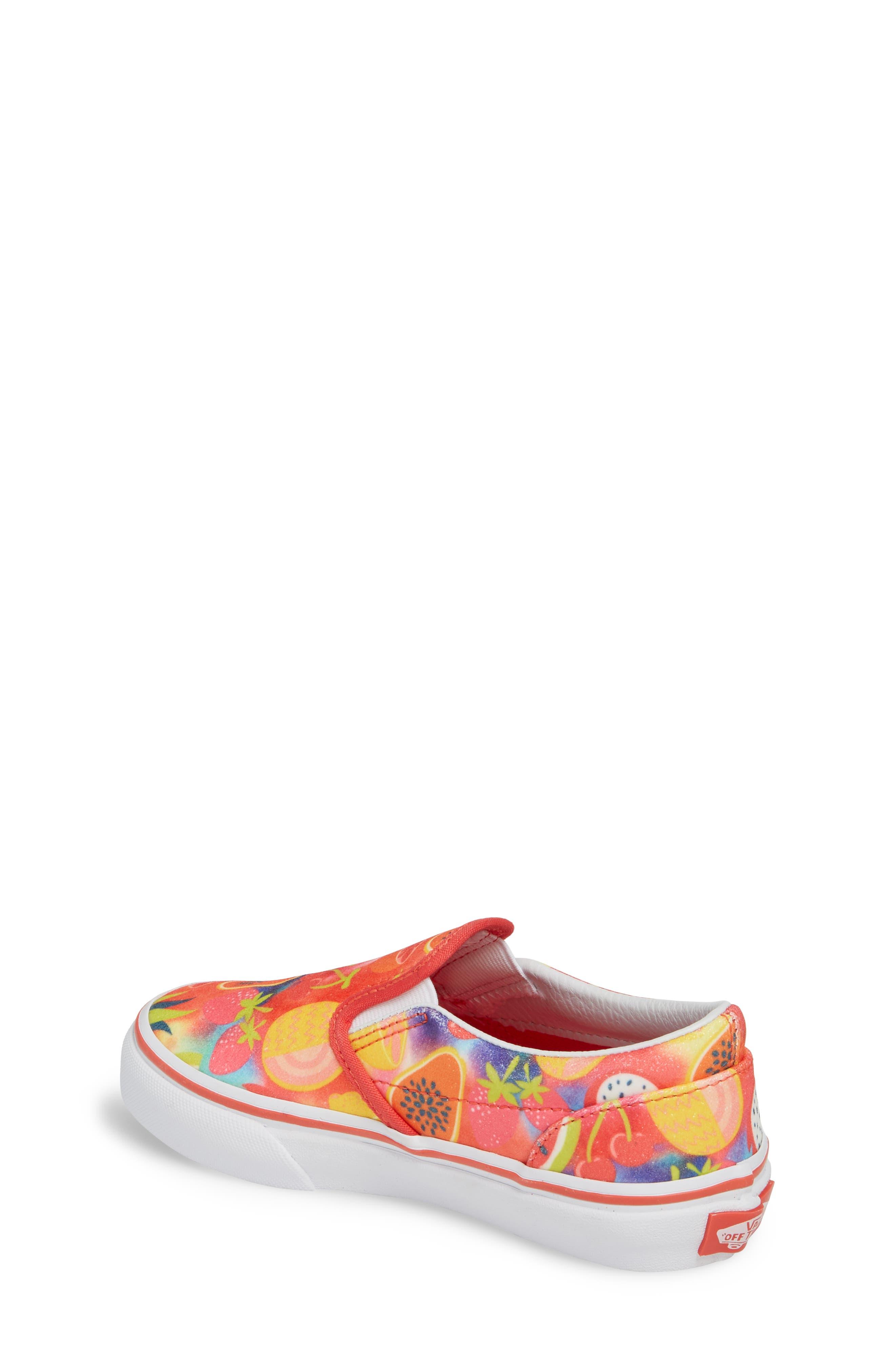 Classic Glitter Fruit Slip-On Sneaker,                             Alternate thumbnail 2, color,                             White/ Multi Glitter Fruits