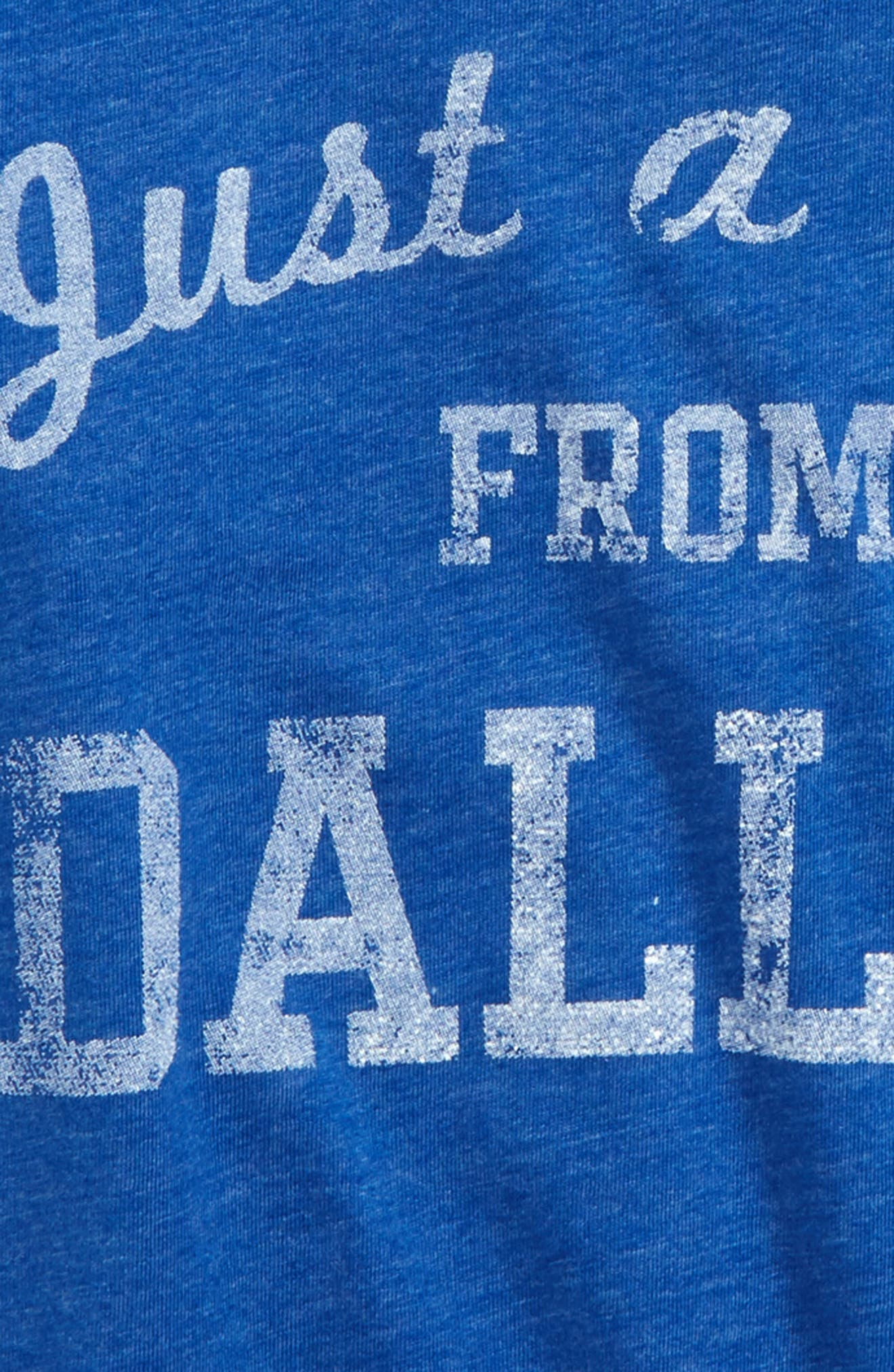 Alternate Image 2  - 7th Inning Stretch Just a Kid from Dallas T-Shirt (Little Boys & Big Boys)