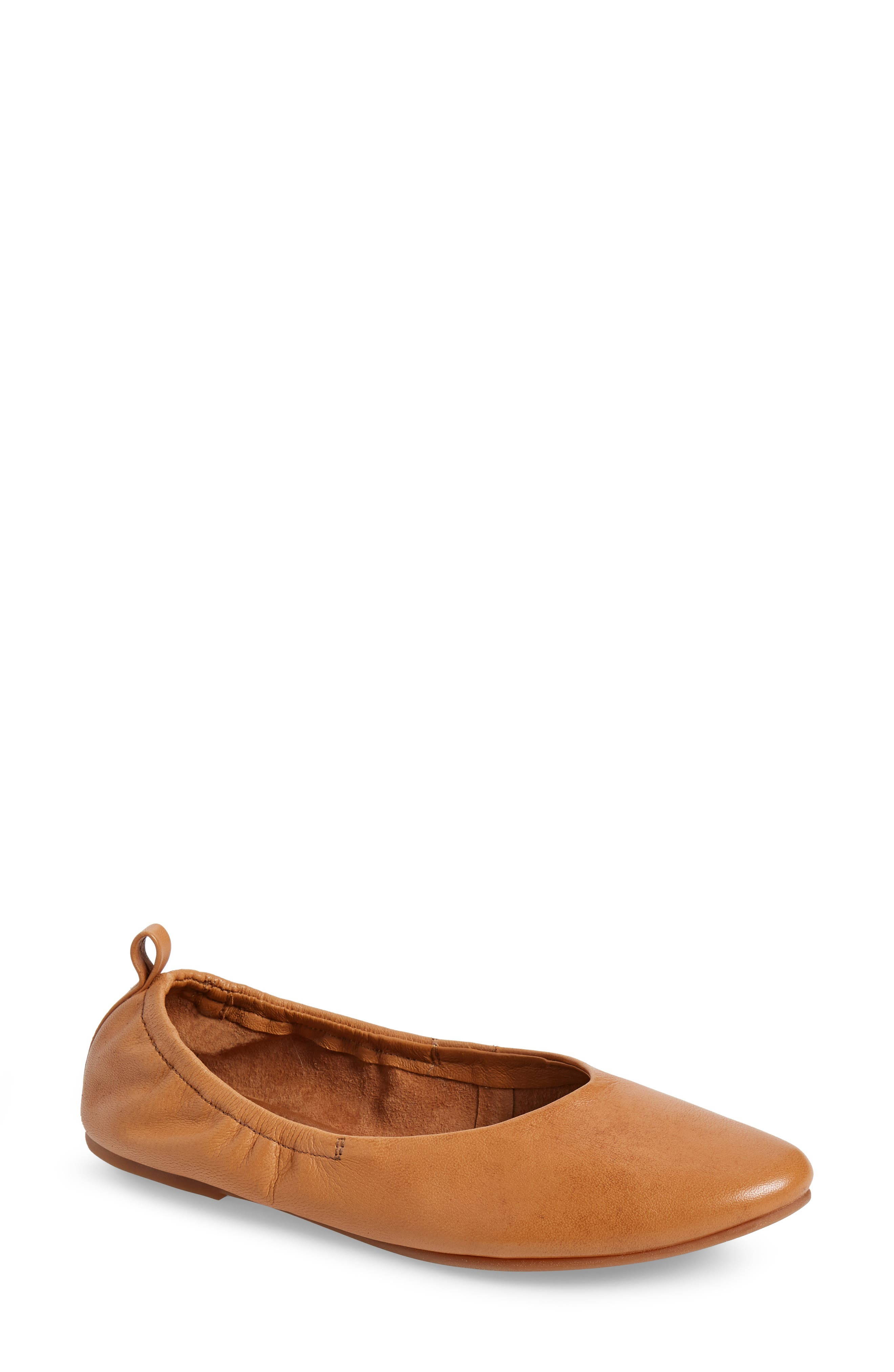 Inner Peace Flat,                         Main,                         color, Tan Leather