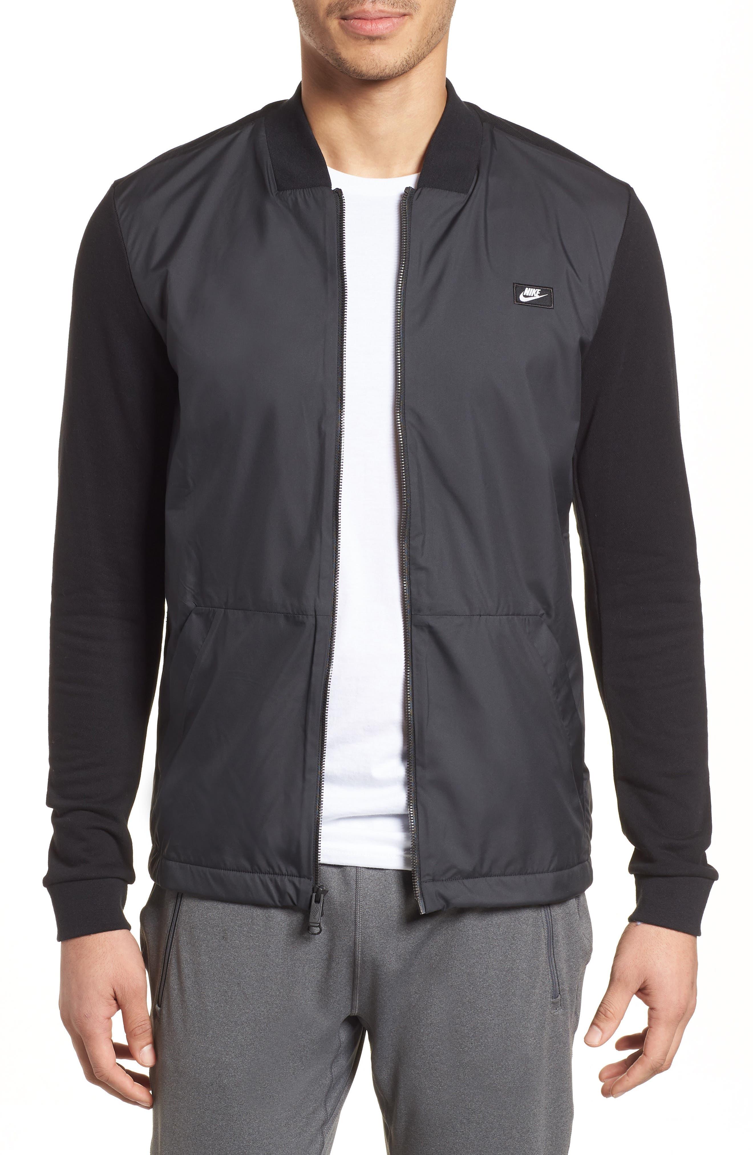 NSW Modern Track Jacket,                             Main thumbnail 1, color,                             Black/ Black